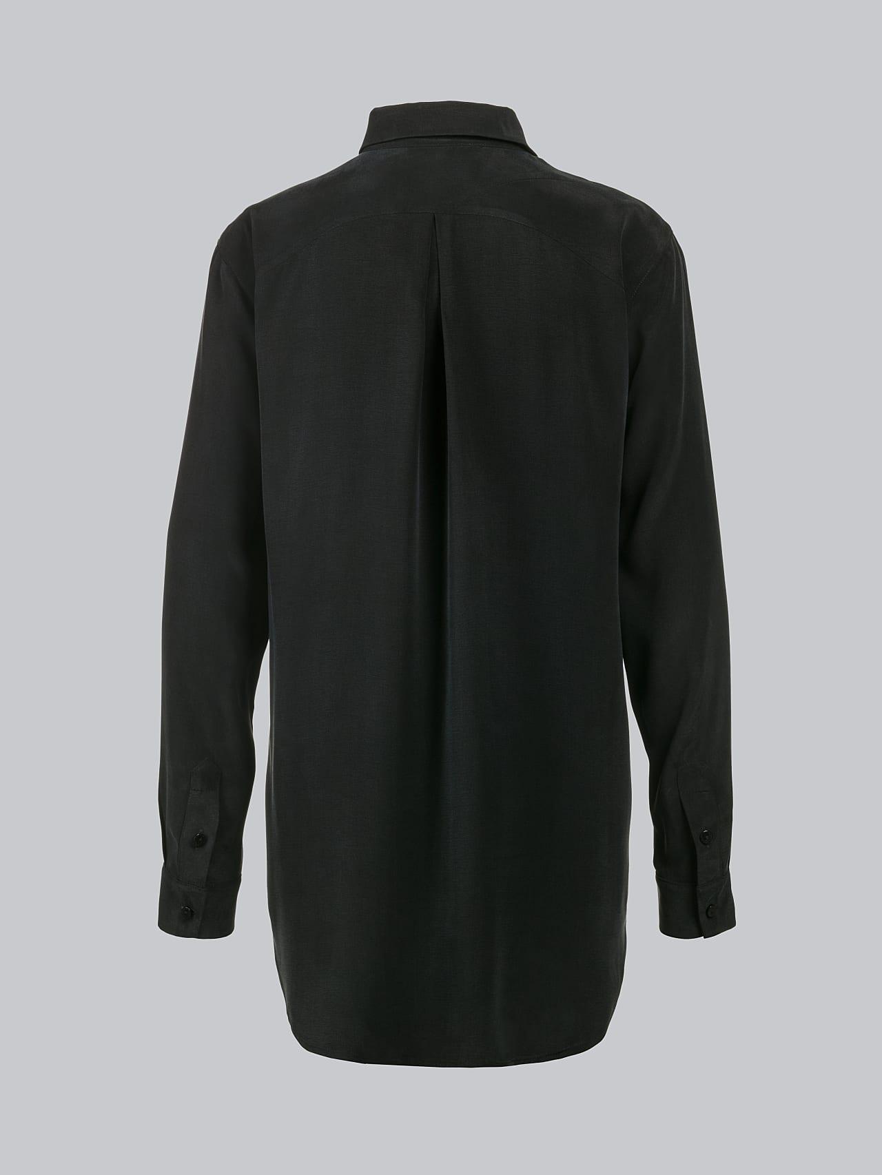 WYIN V3.Y3.02 Shiny Oversized Blouse black Left Alpha Tauri