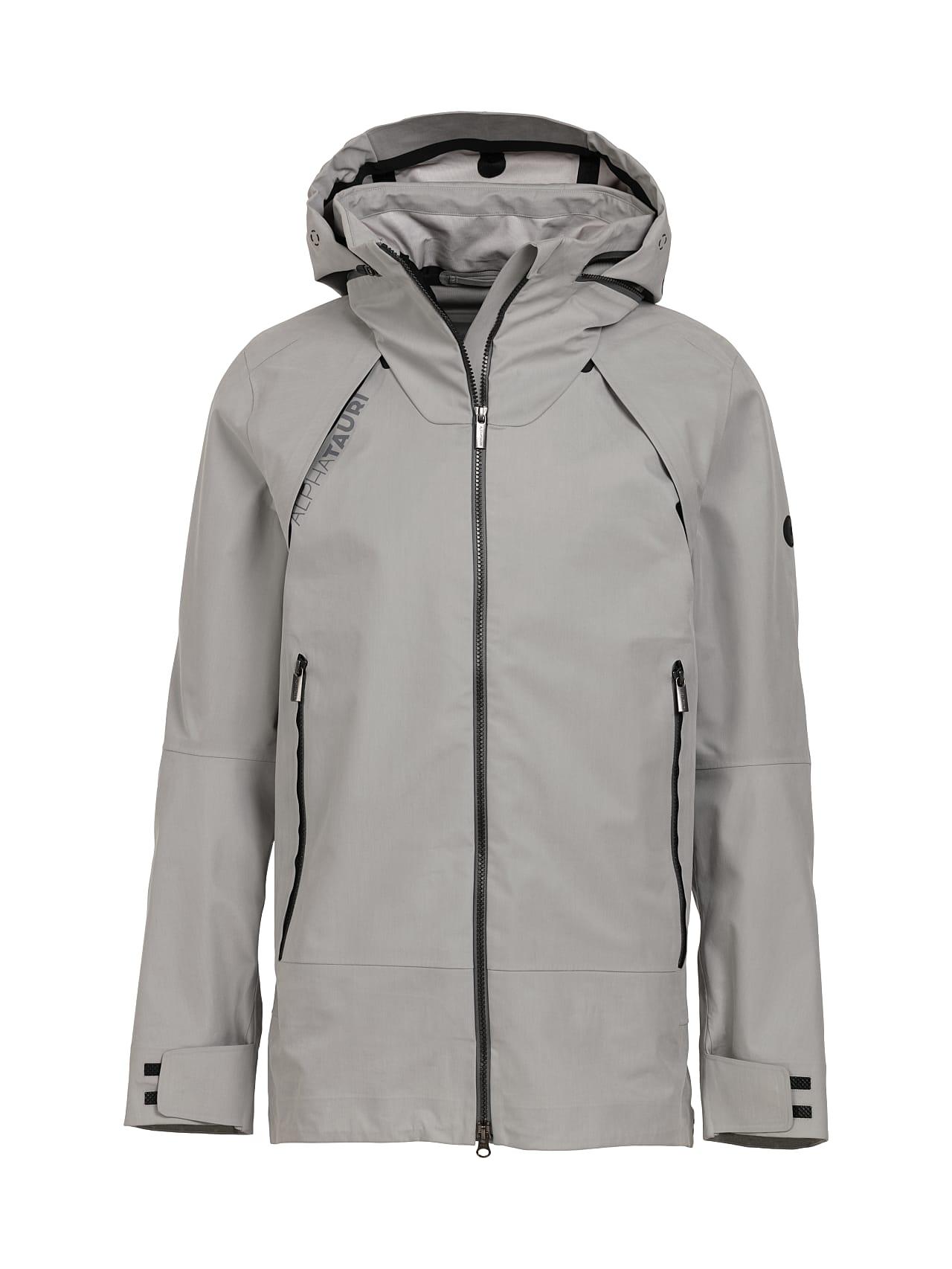 OSOOV V2.Y4.01 Technical 3-Layer Jacket with Taurex® light grey Back Alpha Tauri