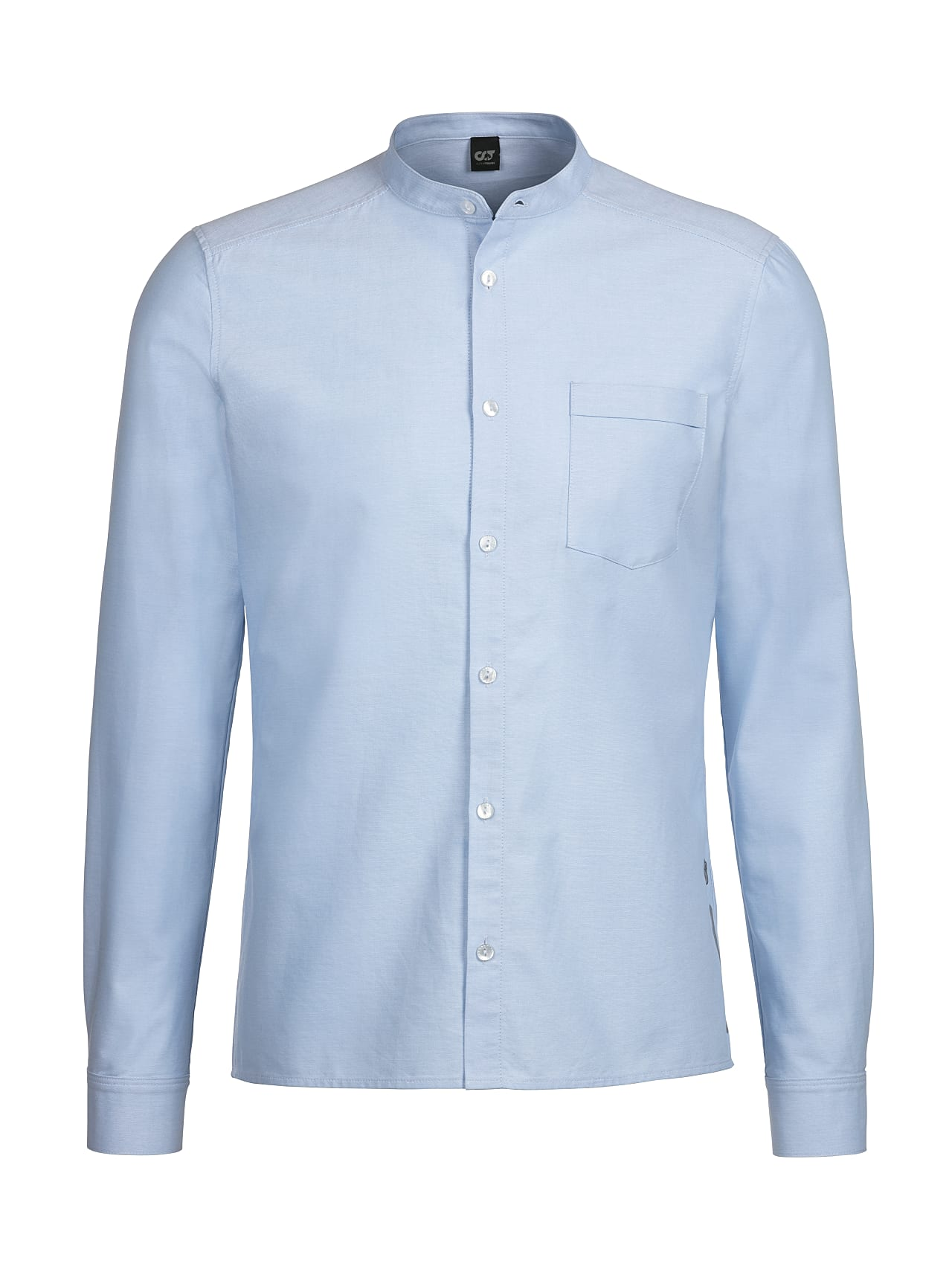 WIDT V8.Y4.01 Classic Oxford Shirt with Stand-up Collar light blue Back Alpha Tauri