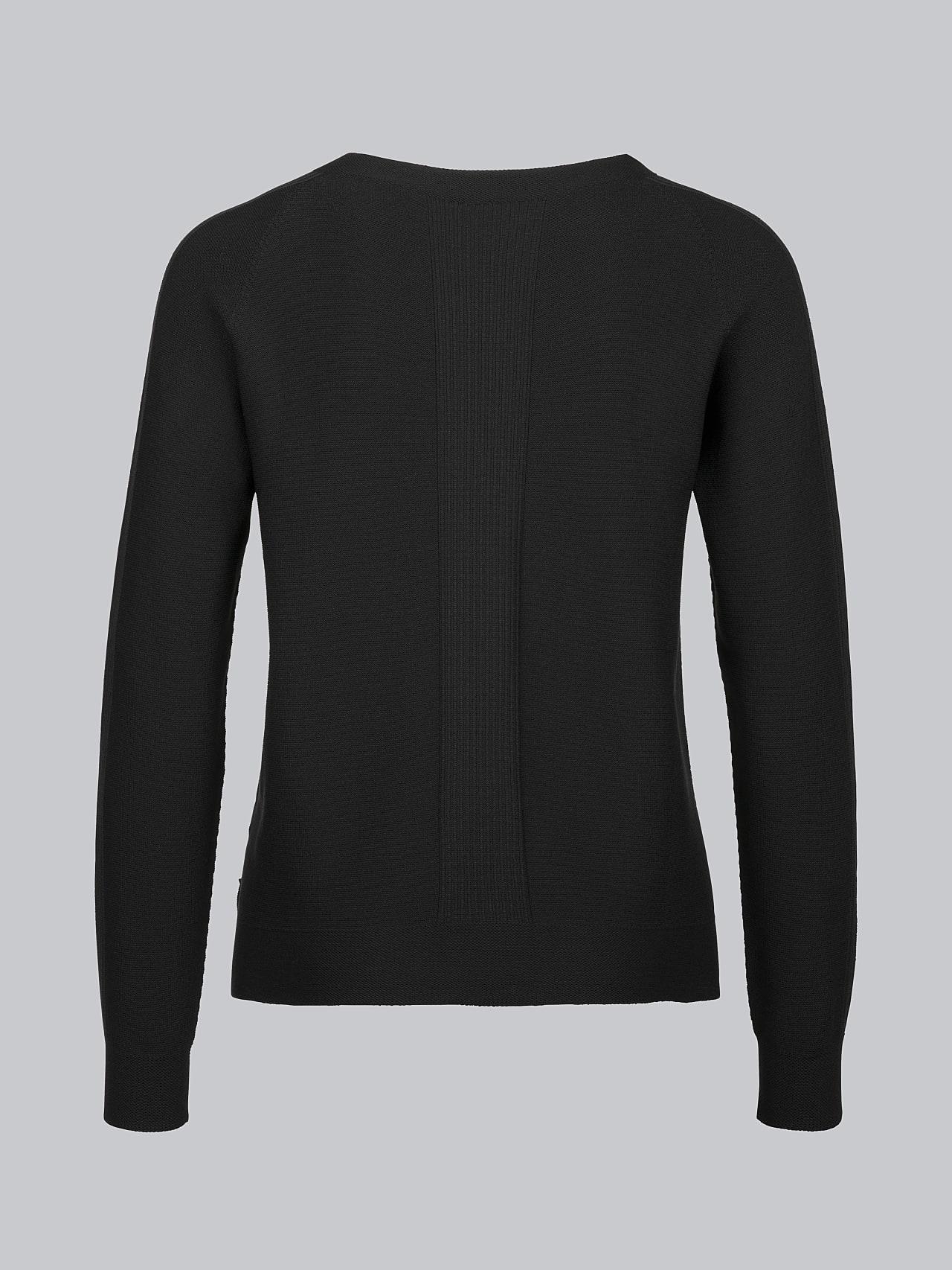 FINTEW V2.Y4.01 3D Performance Knit Sweater black Left Alpha Tauri
