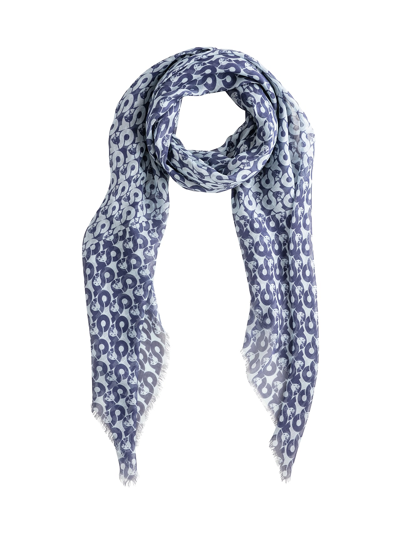 ANZA V4.Y4.01 All Over Print Scarf blue / other Back Alpha Tauri