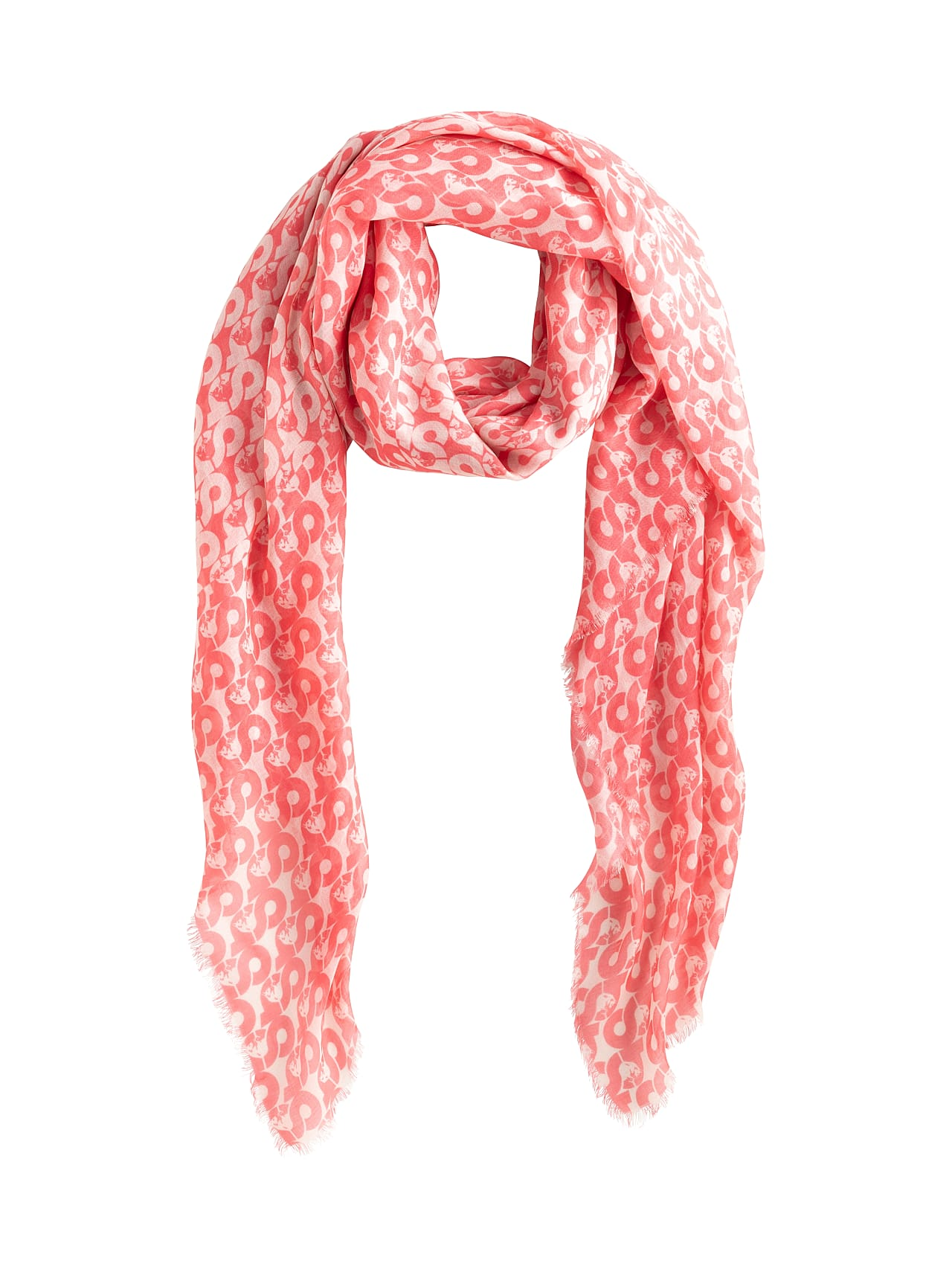 ANZA V4.Y4.01 All Over Print Scarf coral / other Back Alpha Tauri