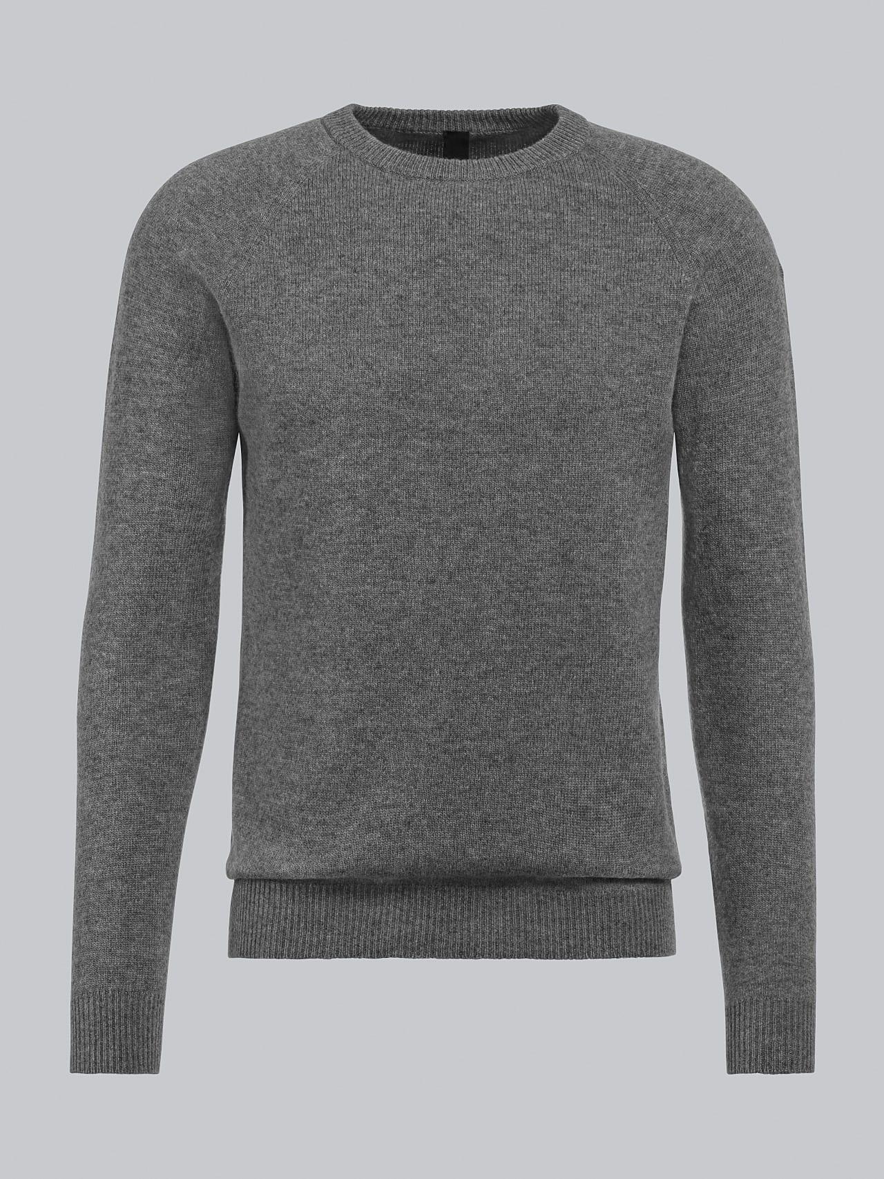 FLACK V2.Y4.02 Premium 3D Knit Merino-Cashmere Jumper grey / melange Back Alpha Tauri