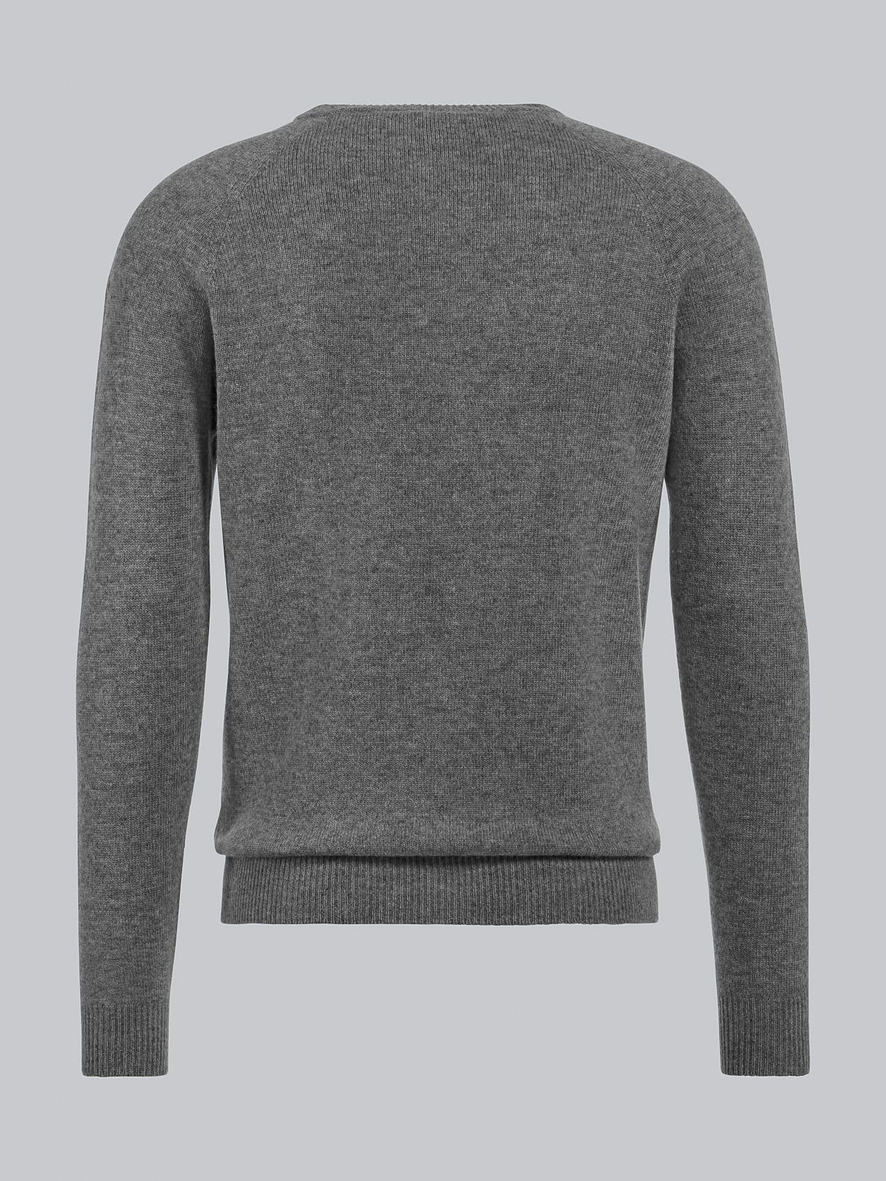 FLACK V2.Y4.02 Premium 3D Knit Merino-Cashmere Jumper grey / melange Left Alpha Tauri