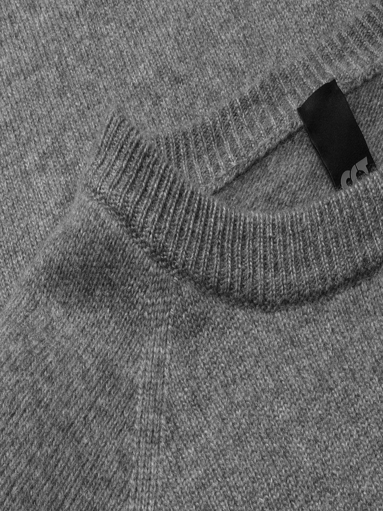 FLACK V2.Y4.02 Nahtloser 3D Knit Merino-Kaschmir Pullover Grau / Melange Extra Alpha Tauri