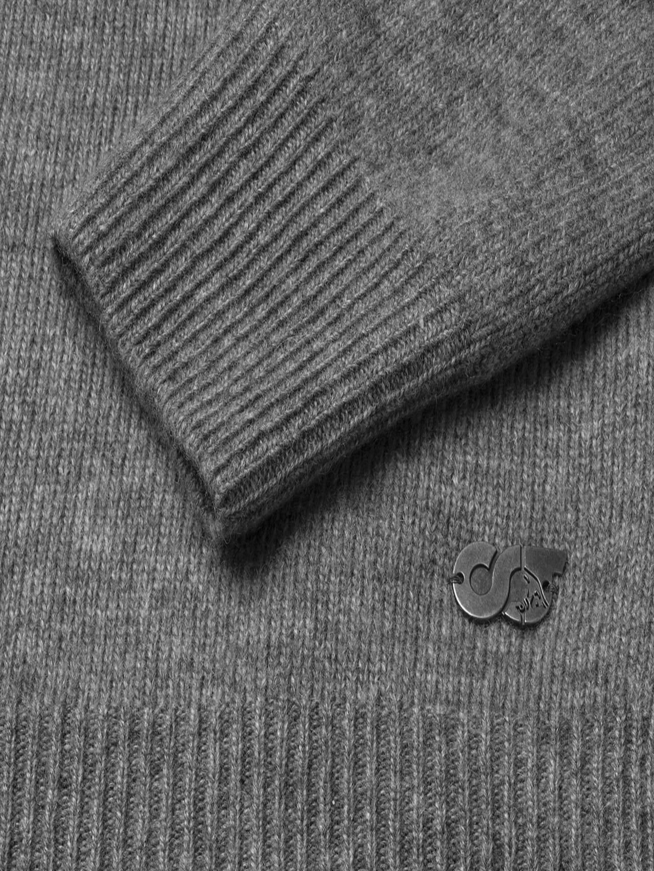 FLACK V2.Y4.02 Nahtloser 3D Knit Merino-Kaschmir Pullover Grau / Melange scene7.view.8.name Alpha Tauri