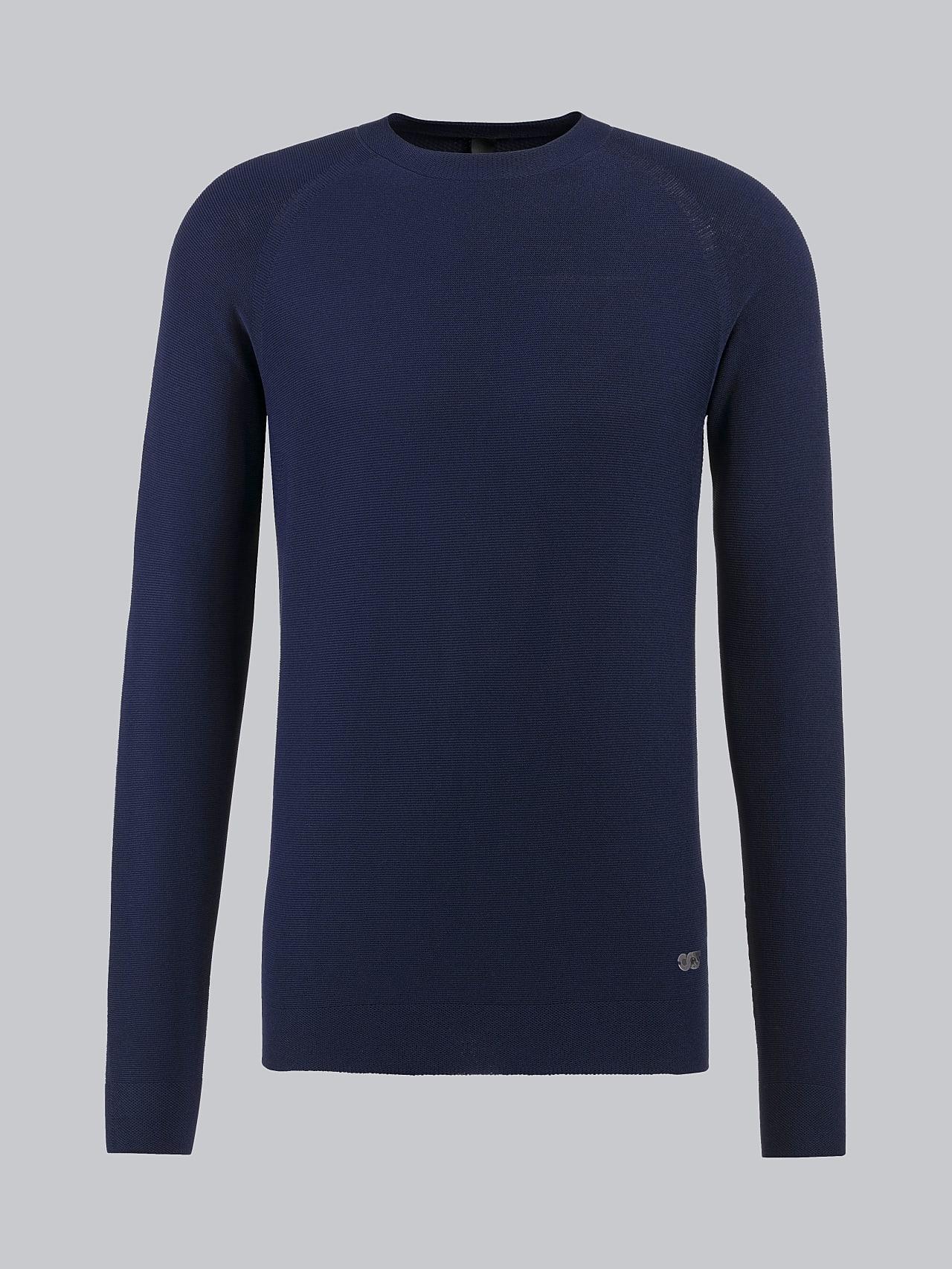 FOSOP V3.Y4.02 Seamless Knit Sweater navy Back Alpha Tauri