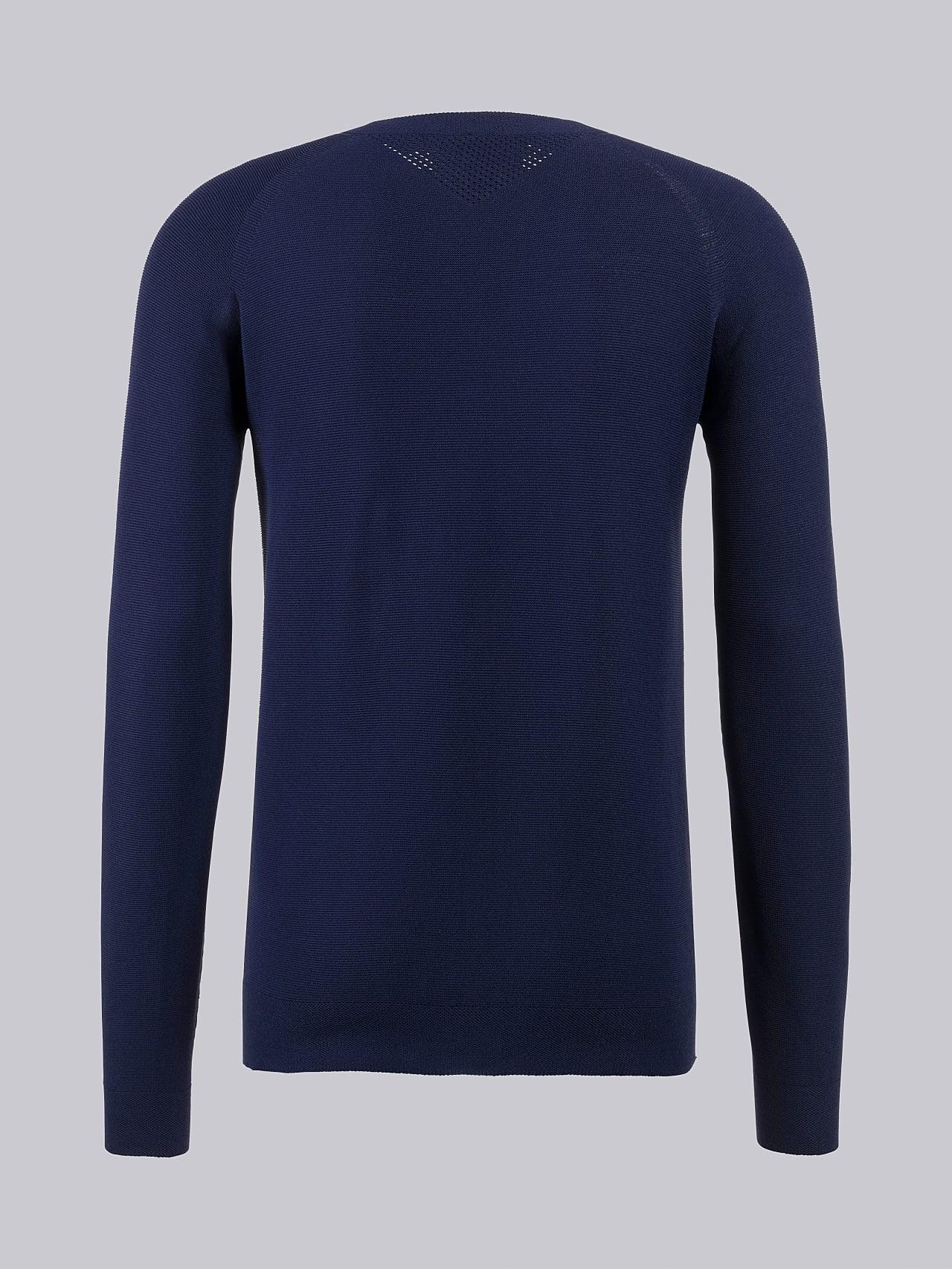 FOSOP V3.Y4.02 Seamless Knit Sweater navy Left Alpha Tauri