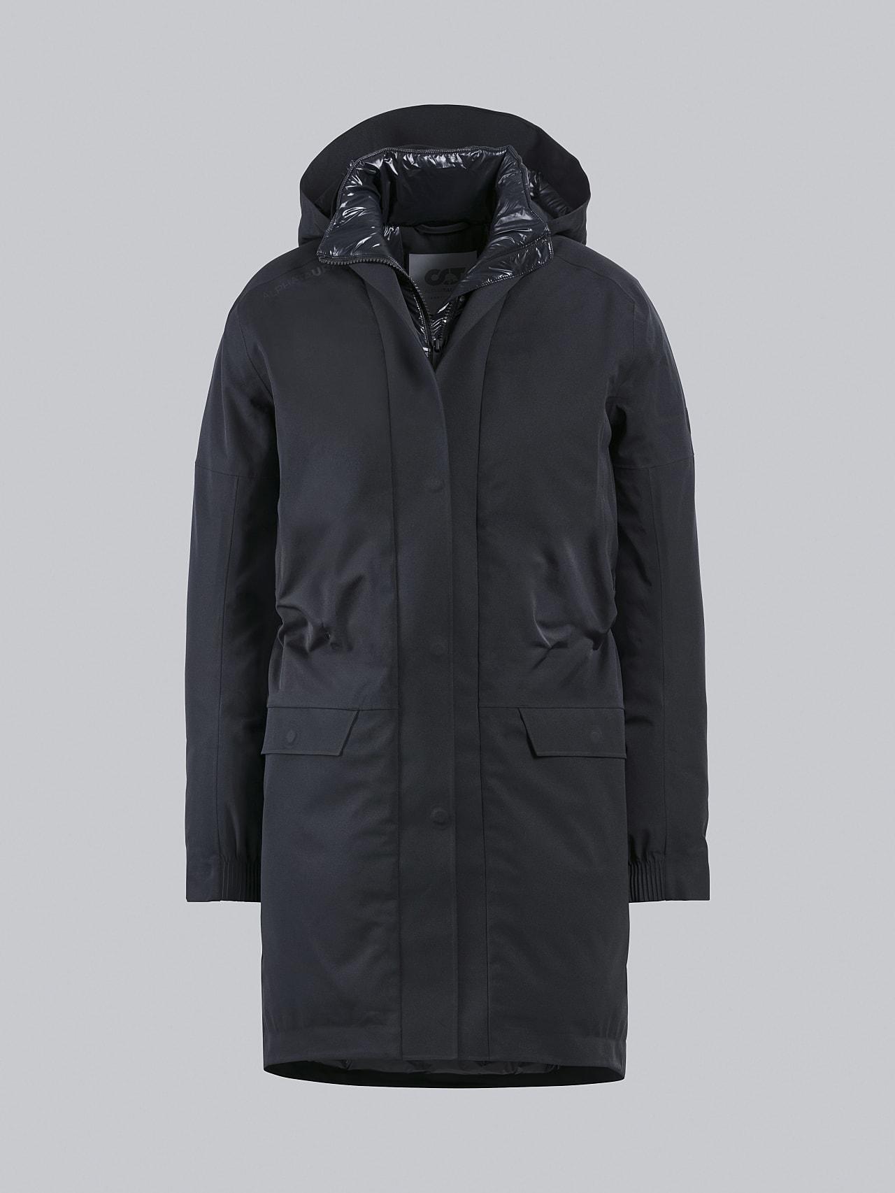 KUUV V2.Y4.02 Packable Waterproof Winter Parka black Back Alpha Tauri