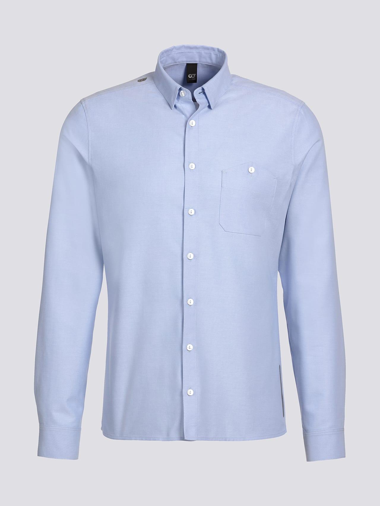 WOSKA V2.Y5.01 Kent Collar Oxford Shirt light blue Back Alpha Tauri