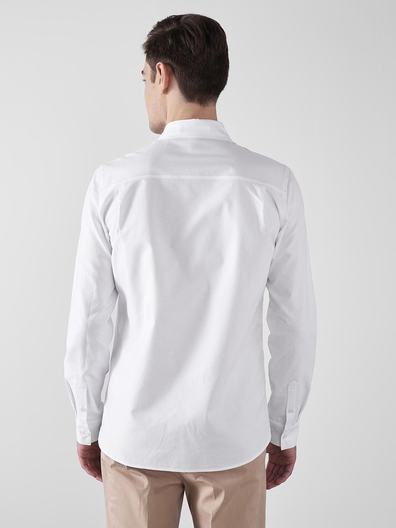 WOSKA V2.Y5.01 Kent Collar Oxford Shirt white Front Main Alpha Tauri
