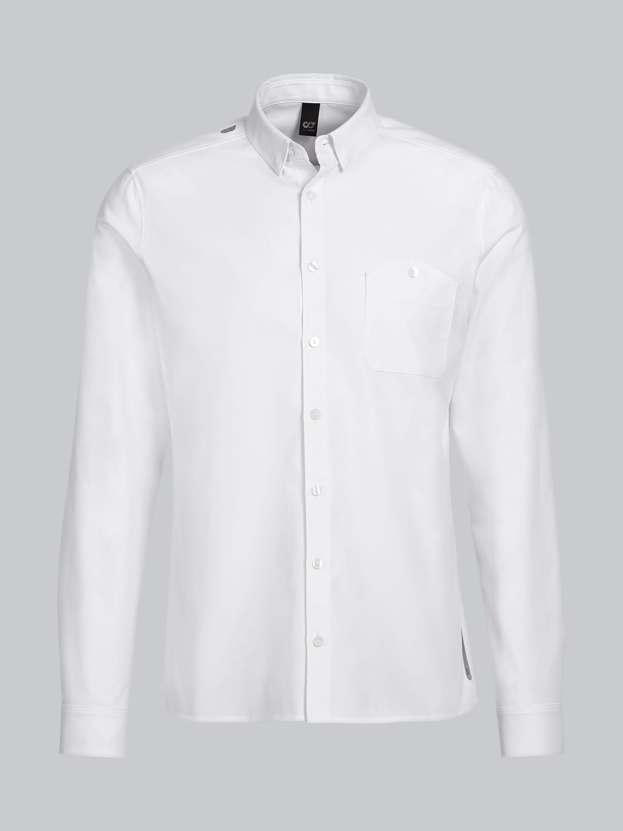 WOSKA V2.Y5.01 Kent Collar Oxford Shirt white Back Alpha Tauri