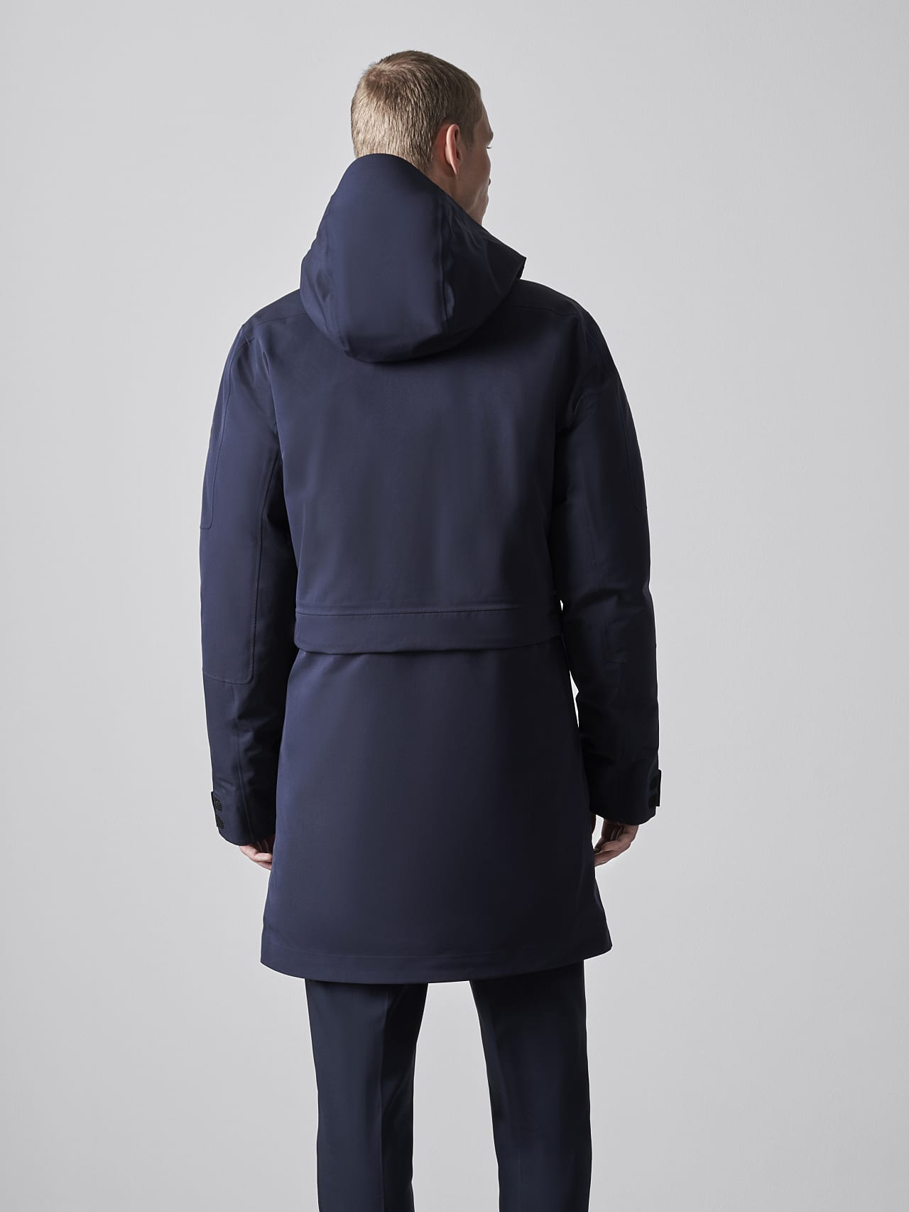 KOOV V6.Y5.02 Packable and Waterproof Winter Parka navy Front Main Alpha Tauri