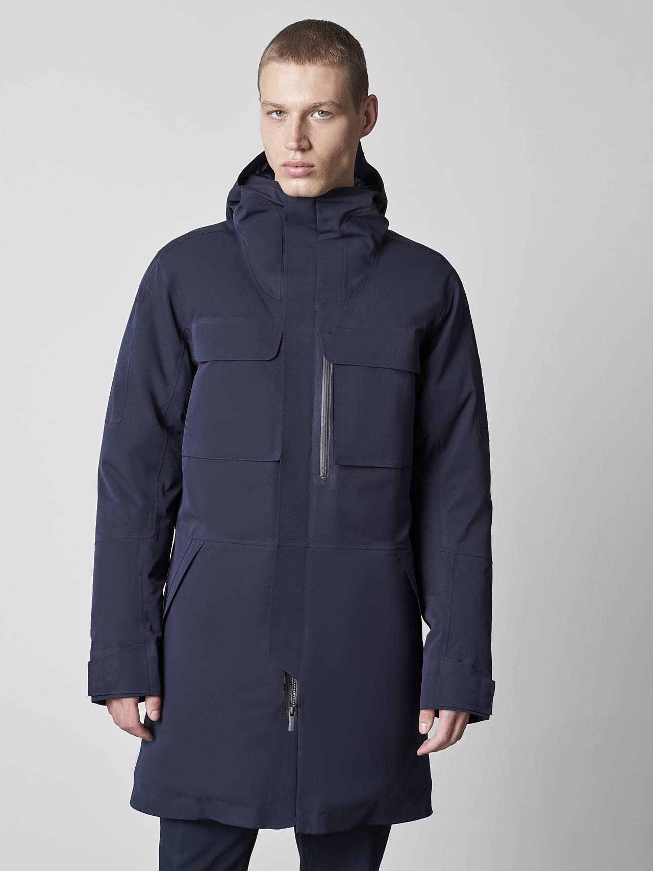 KOOV V6.Y5.02 Packable and Waterproof Winter Parka navy Front Alpha Tauri