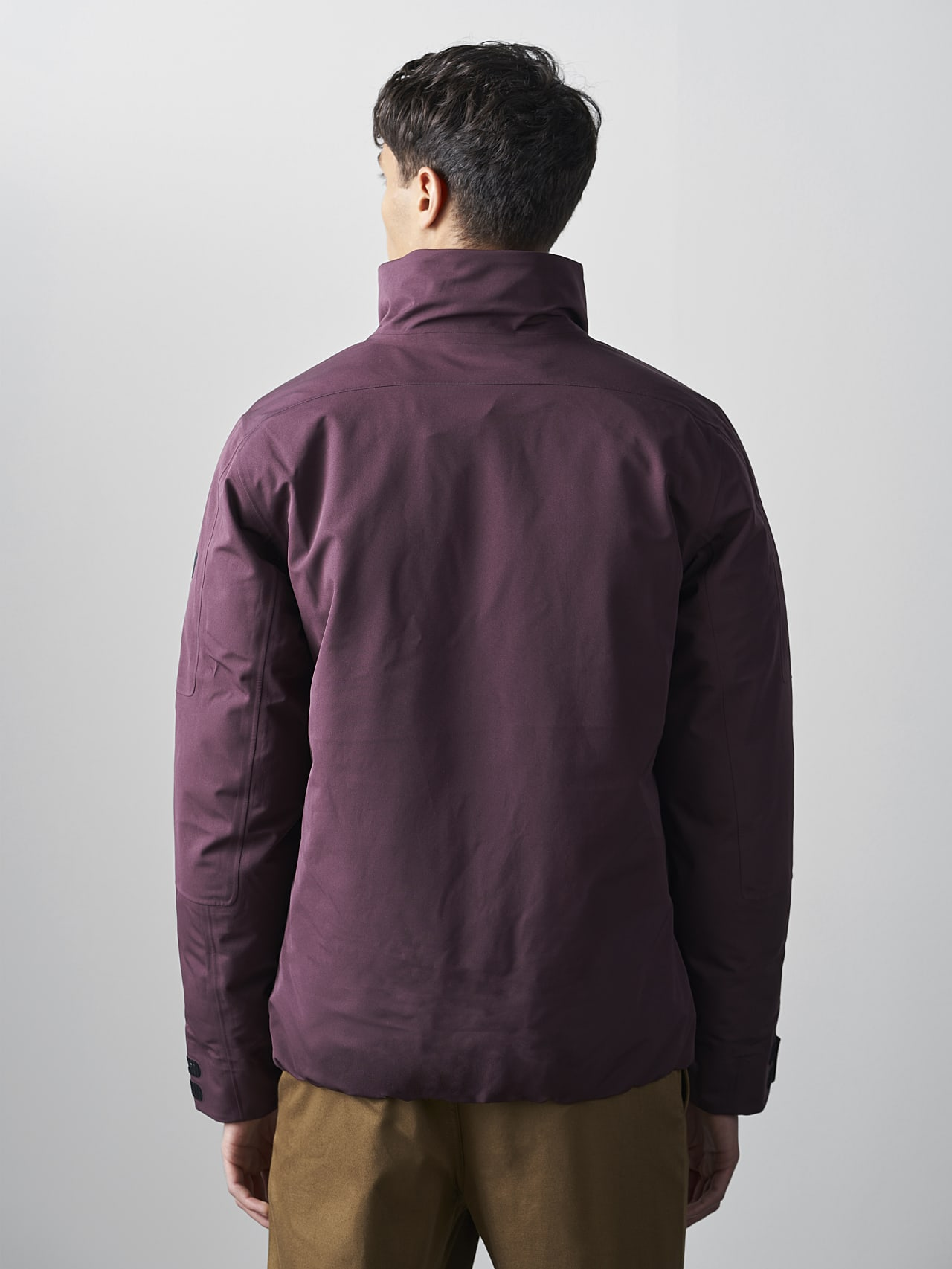 OKOVO V4.Y5.02 Packable and Waterproof Winter Jacket Burgundy Front Main Alpha Tauri