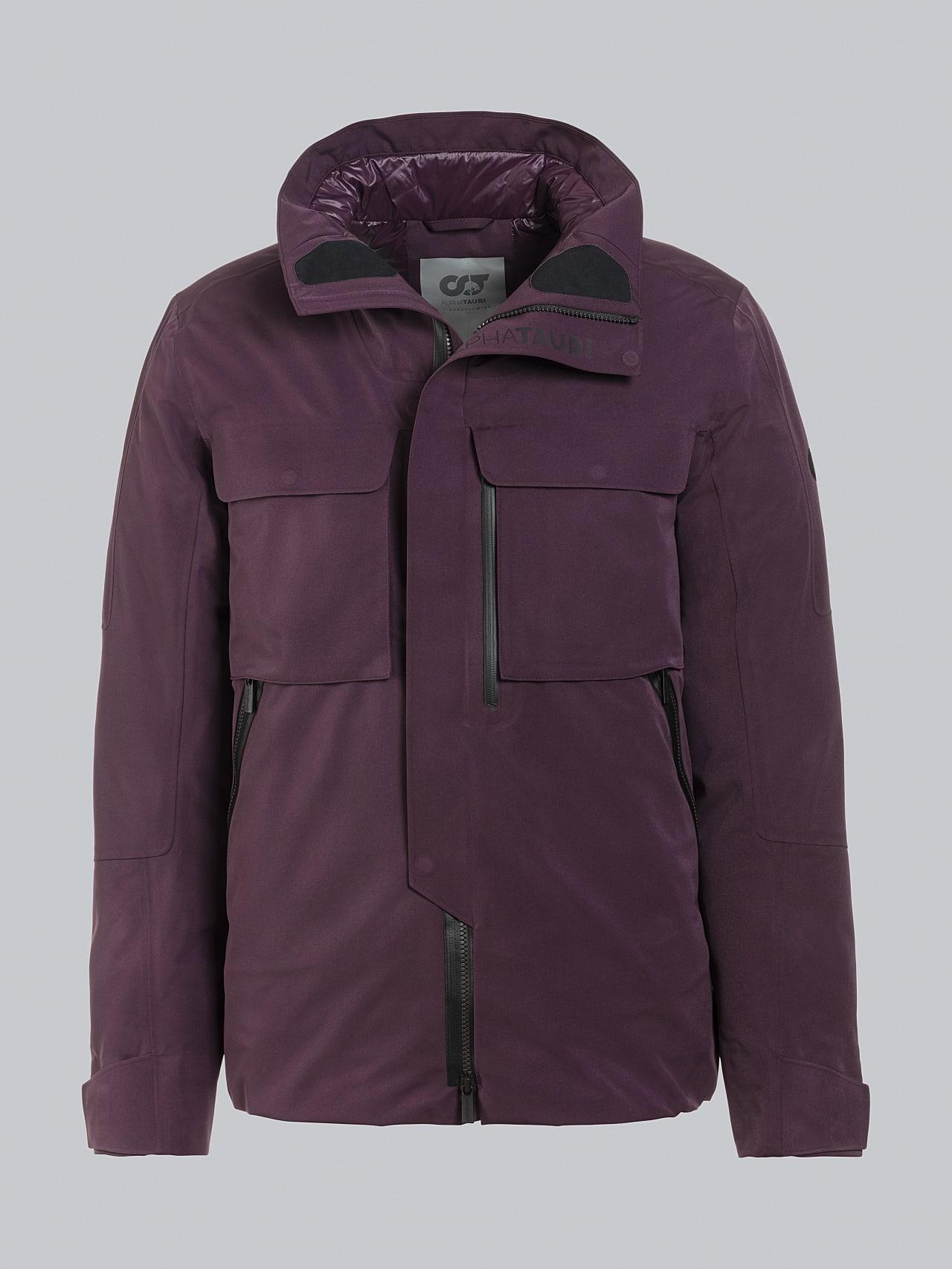 OKOVO V4.Y5.02 Packable and Waterproof Winter Jacket Burgundy Back Alpha Tauri