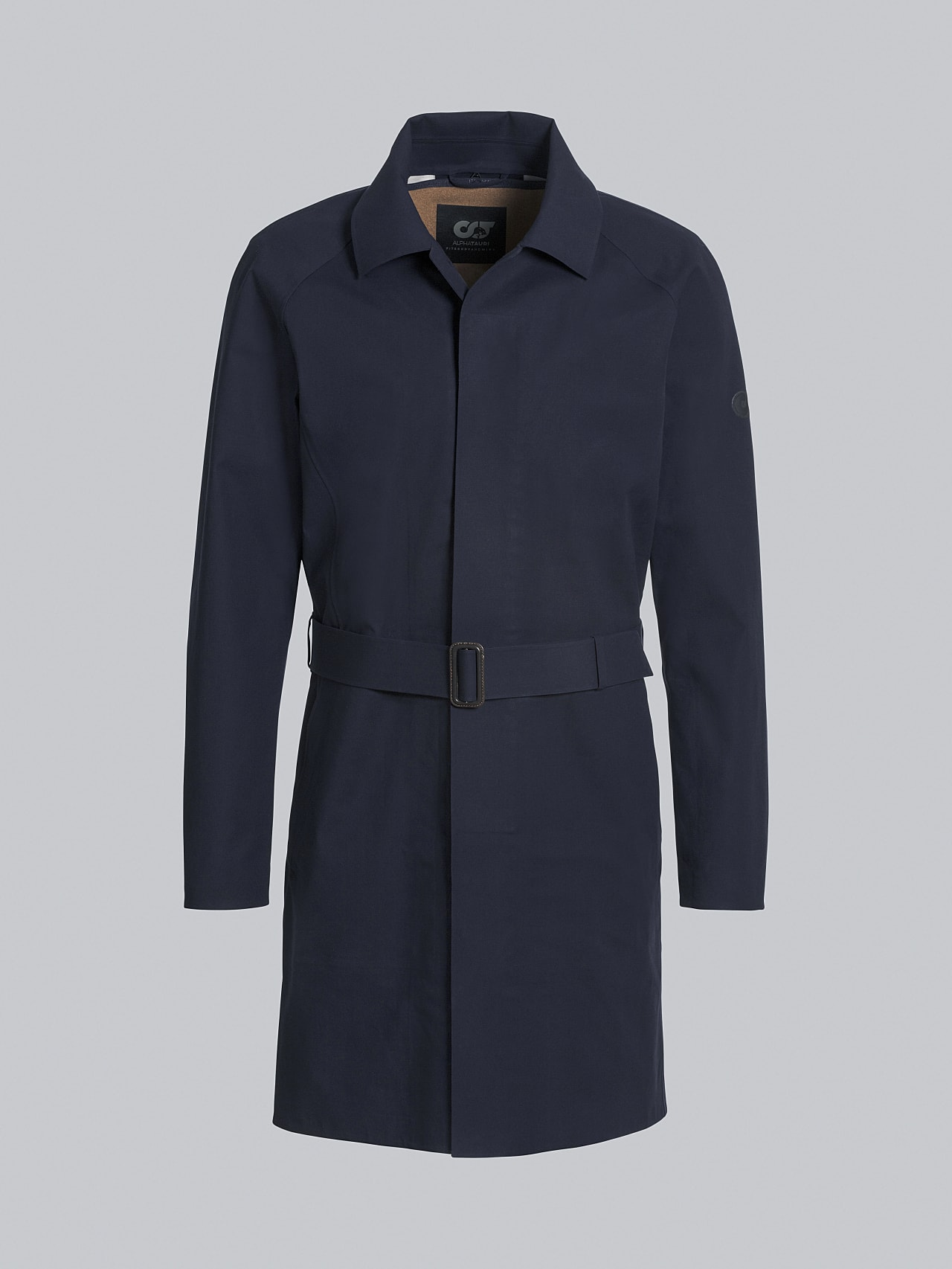 OMANA V1.Y5.02 Packable and Waterproof Trench Coat navy Back Alpha Tauri
