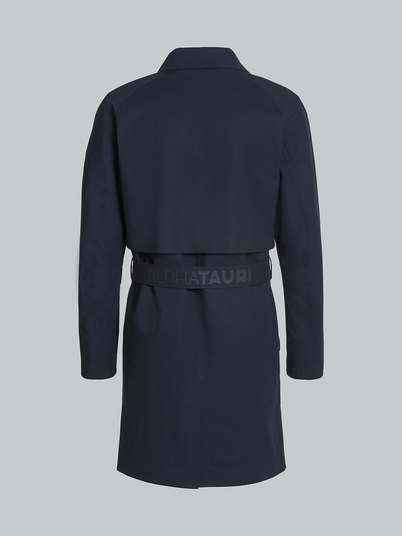 OMANA V1.Y5.02 Packable and Waterproof Trench Coat navy Left Alpha Tauri