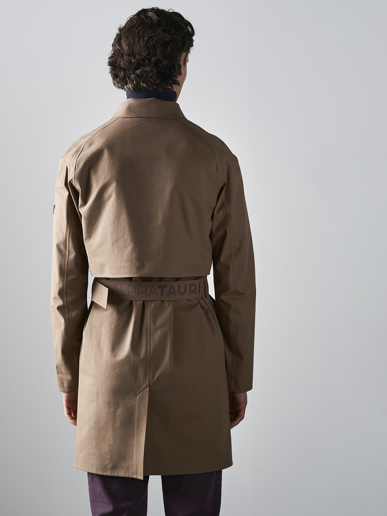 OMANA V1.Y5.02 Packable and Waterproof Trench Coat gold Front Main Alpha Tauri