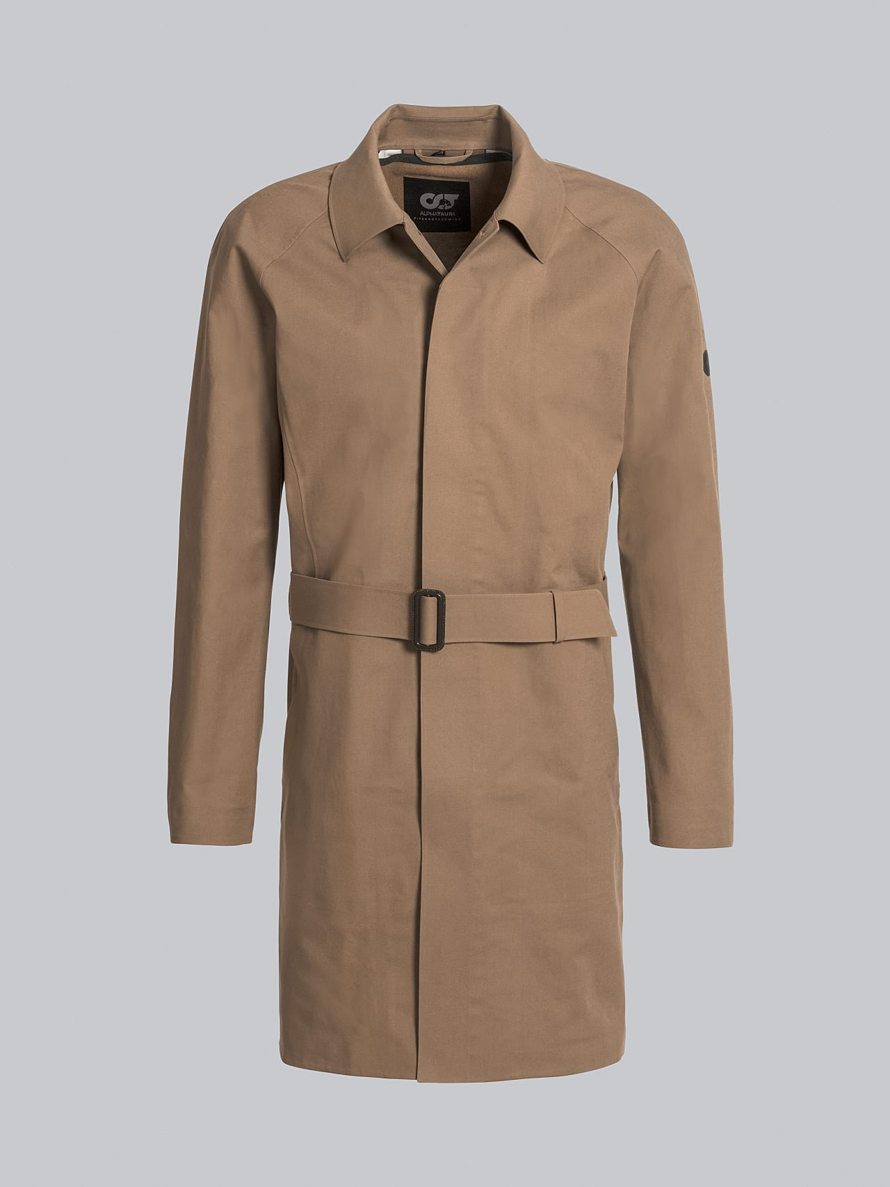 OMANA V1.Y5.02 Packable and Waterproof Trench Coat gold Back Alpha Tauri