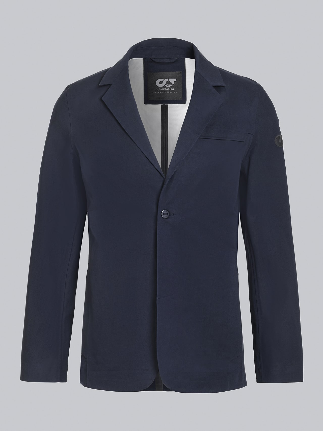 OBOSS V3.Y5.02 Packable and Waterproof Blazer navy Back Alpha Tauri