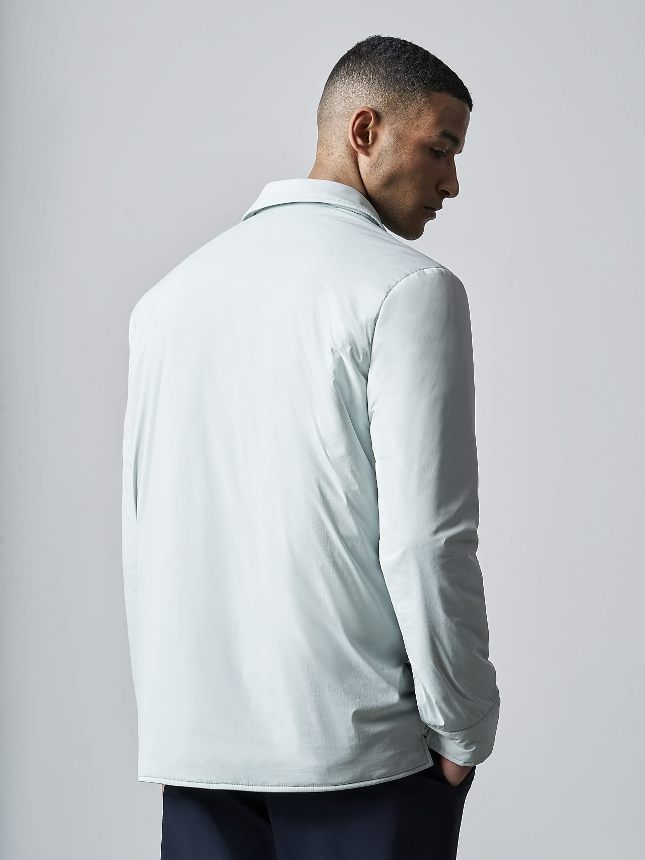 OVASU V1.Y5.02 PrimaLoft® Overshirt Jacket Pale Blue  Front Main Alpha Tauri