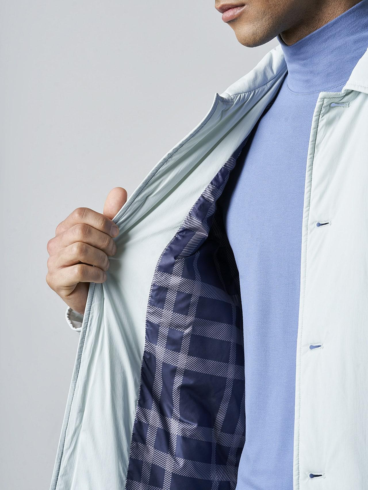 OVASU V1.Y5.02 PrimaLoft® Overshirt Jacket Pale Blue  Right Alpha Tauri