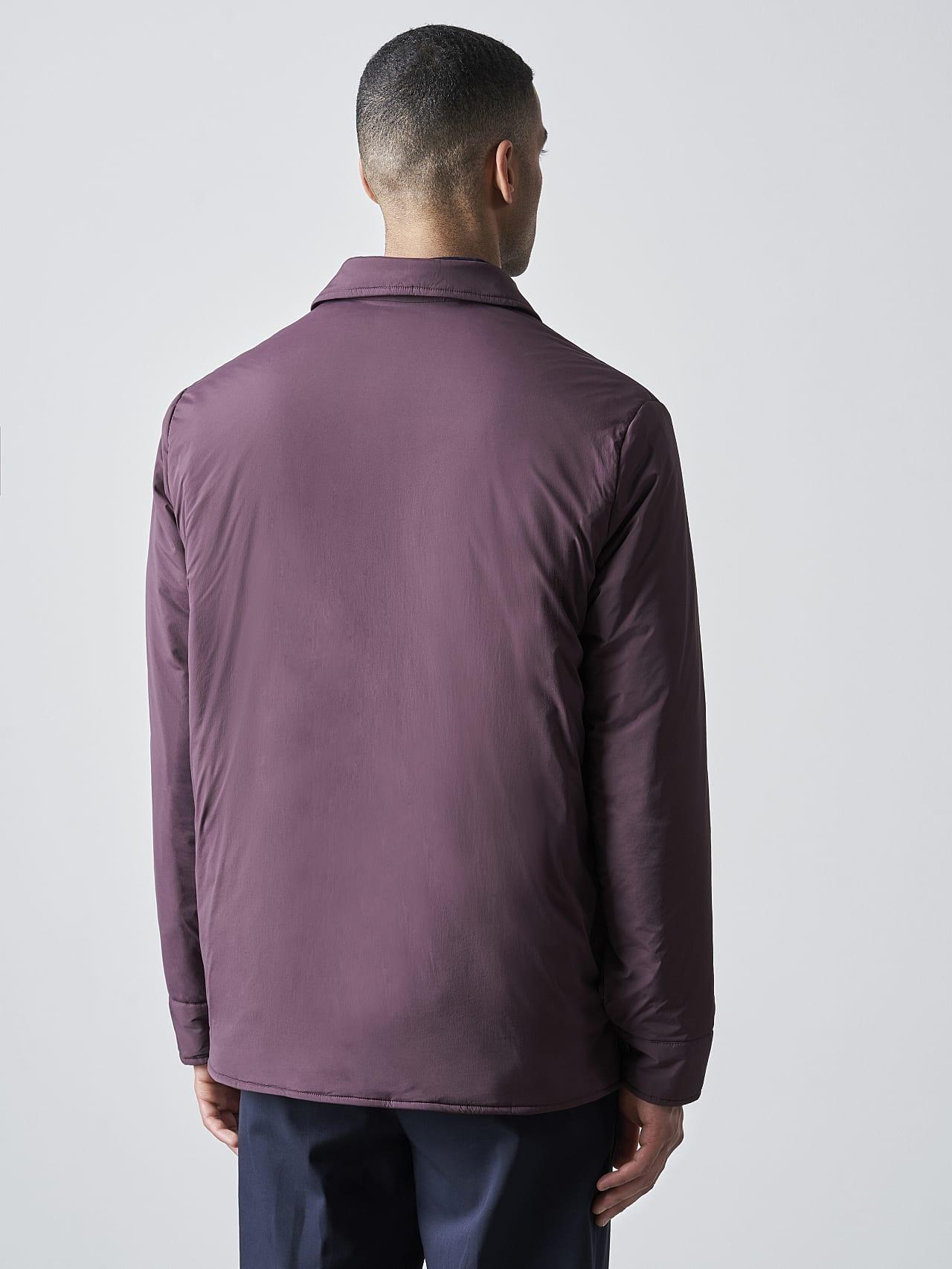 OVASU V1.Y5.02 PrimaLoft® Overshirt Jacket Burgundy Front Main Alpha Tauri