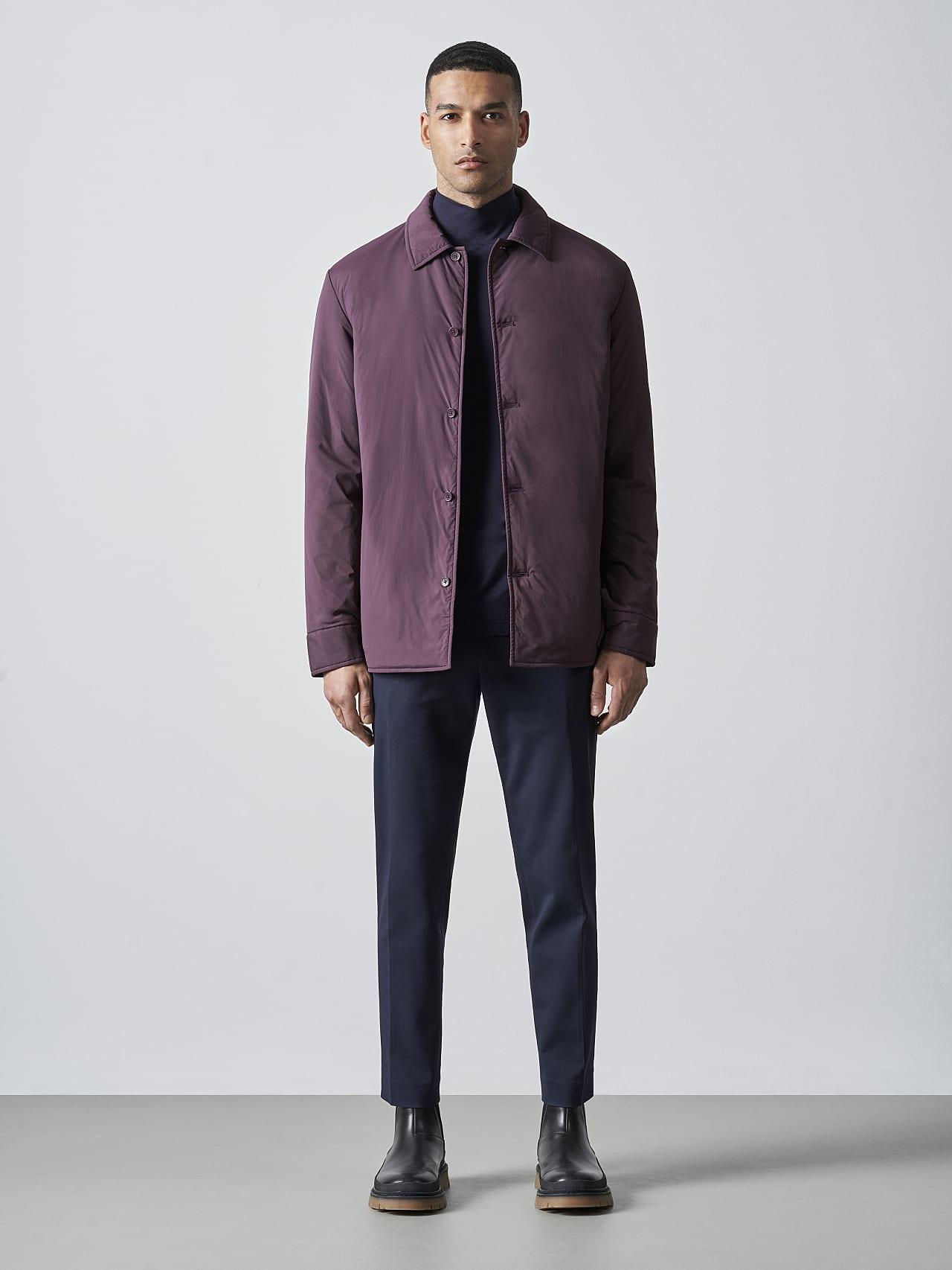 OVASU V1.Y5.02 PrimaLoft® Overshirt Jacket Burgundy Front Alpha Tauri