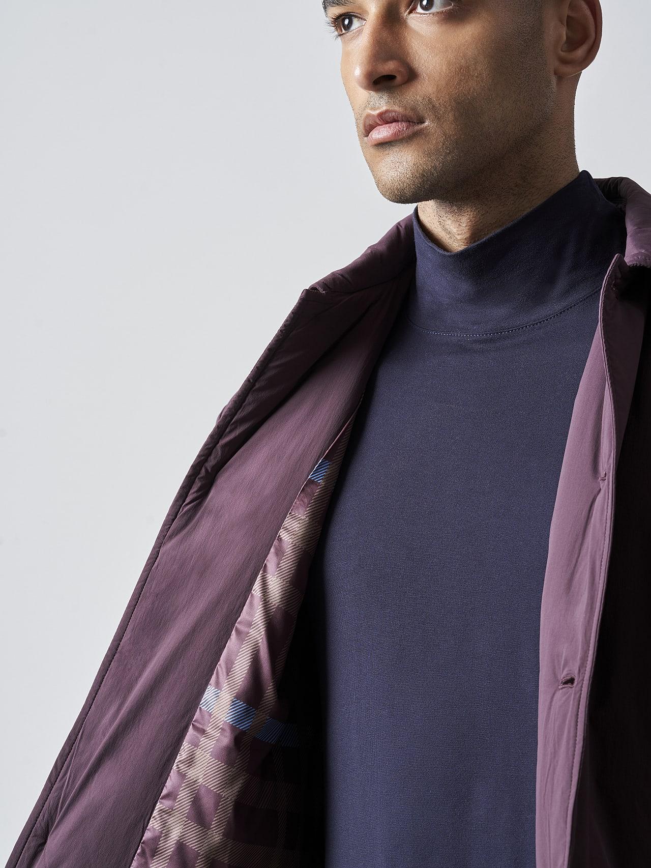 OVASU V1.Y5.02 PrimaLoft® Overshirt Jacket Burgundy Right Alpha Tauri