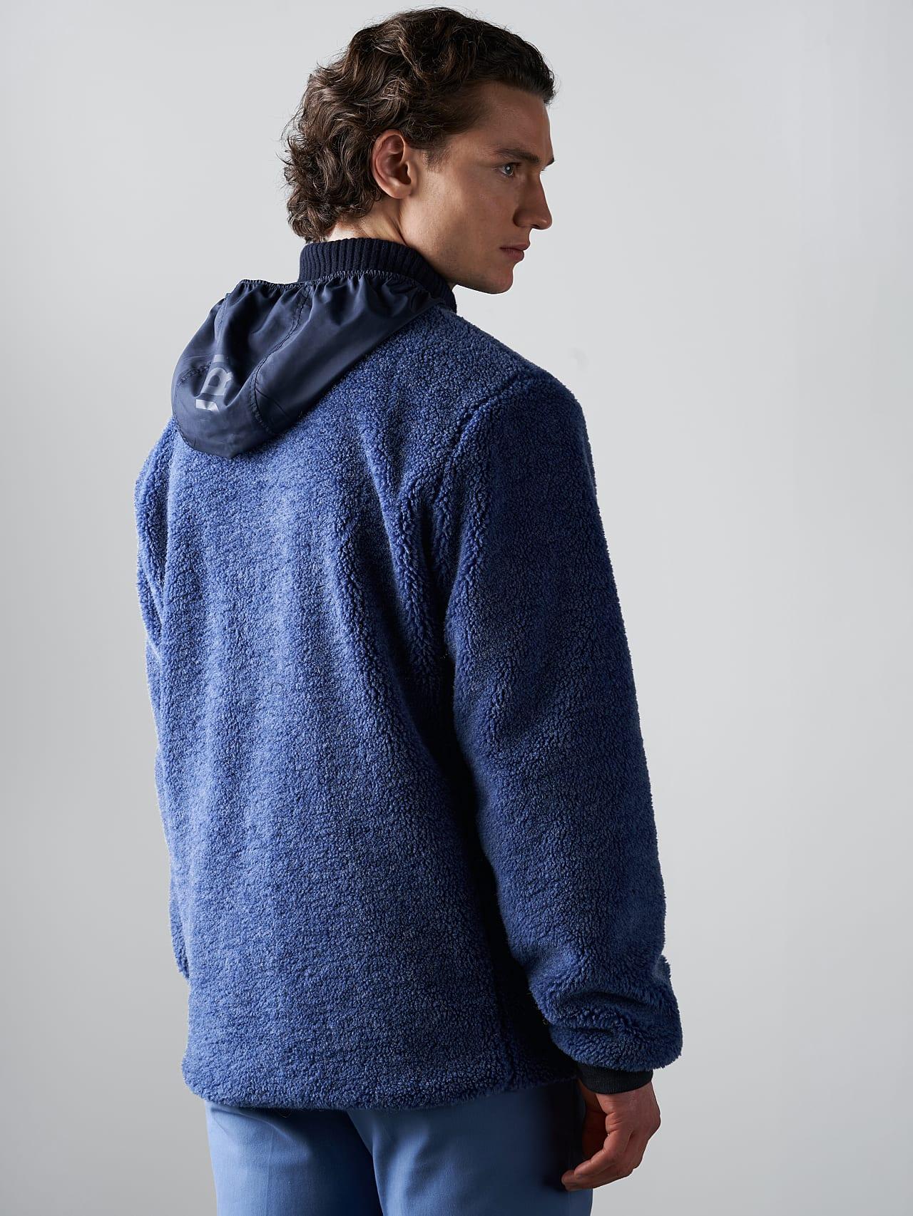 OVEDY V1.Y5.02 Reversible Wool-Blend Teddy Jacket light blue Front Main Alpha Tauri