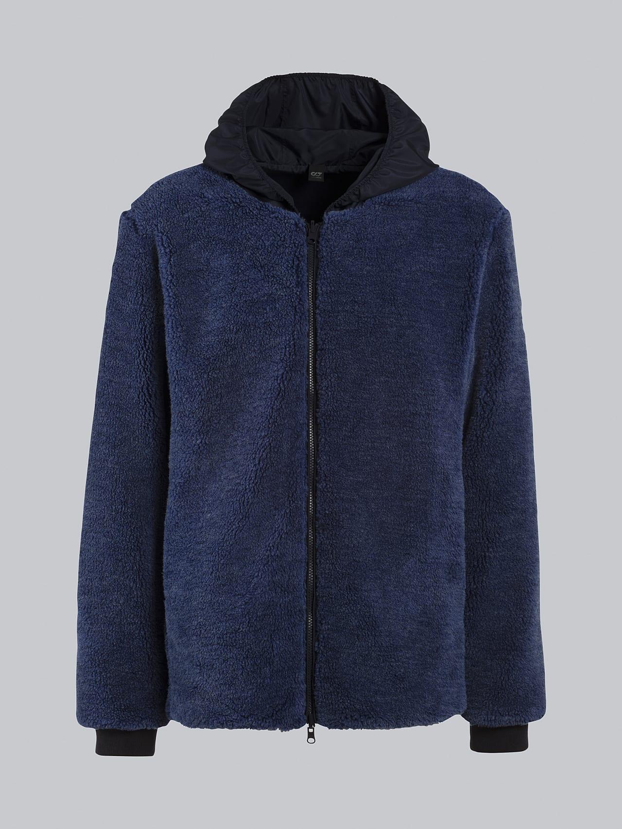 OVEDY V1.Y5.02 Reversible Wool-Blend Teddy Jacket light blue Back Alpha Tauri