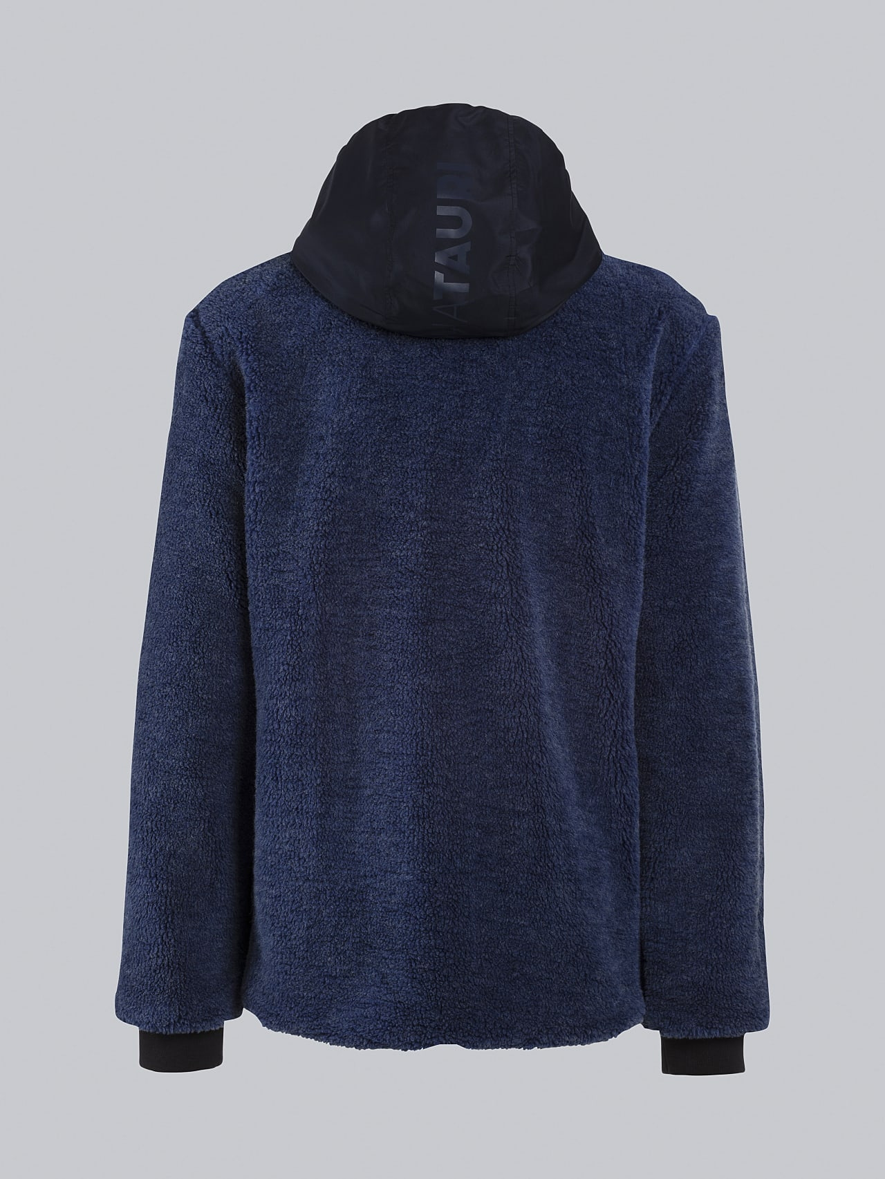 OVEDY V1.Y5.02 Reversible Wool-Blend Teddy Jacket light blue Left Alpha Tauri