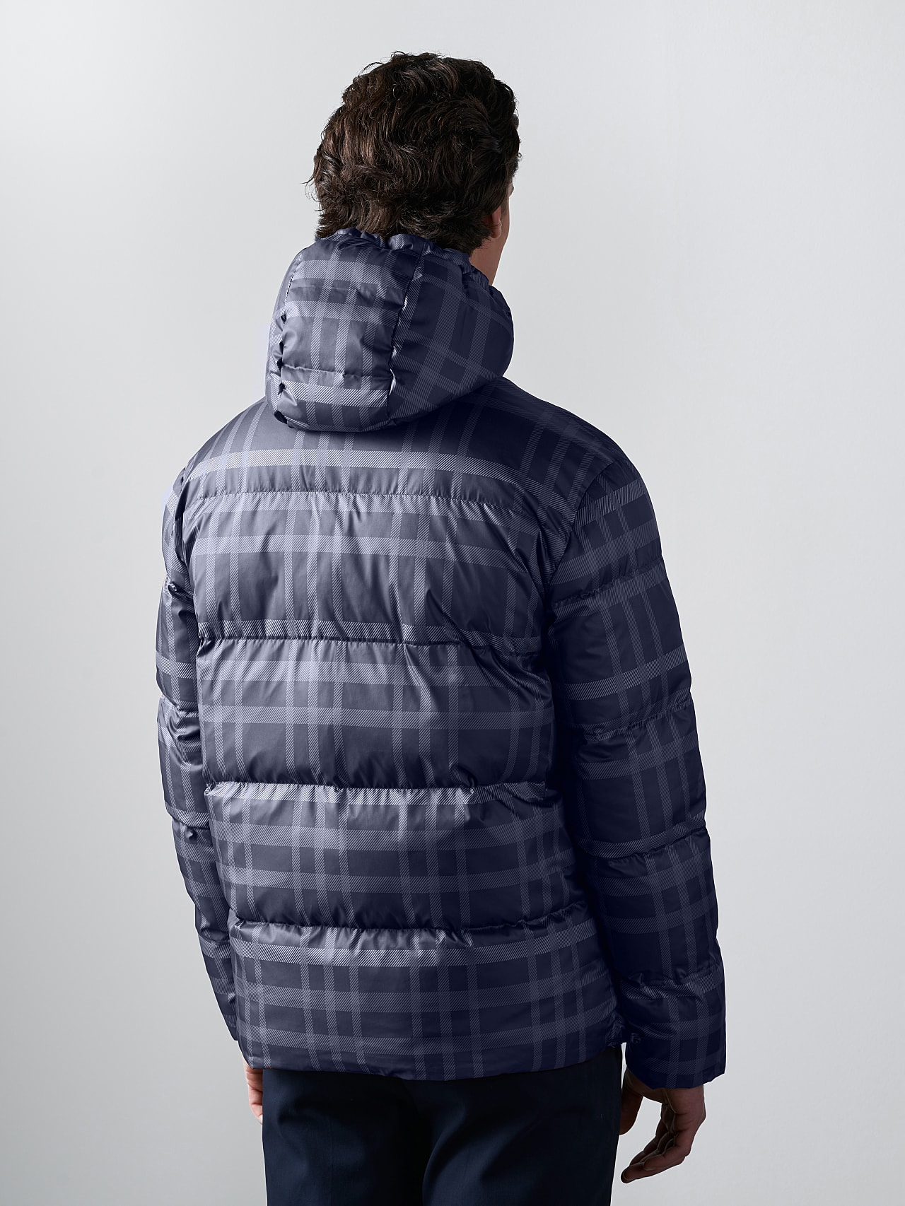 OTACE V1.Y5.02 Reversible 2-in-1 Puffer Jacket navy Front Main Alpha Tauri