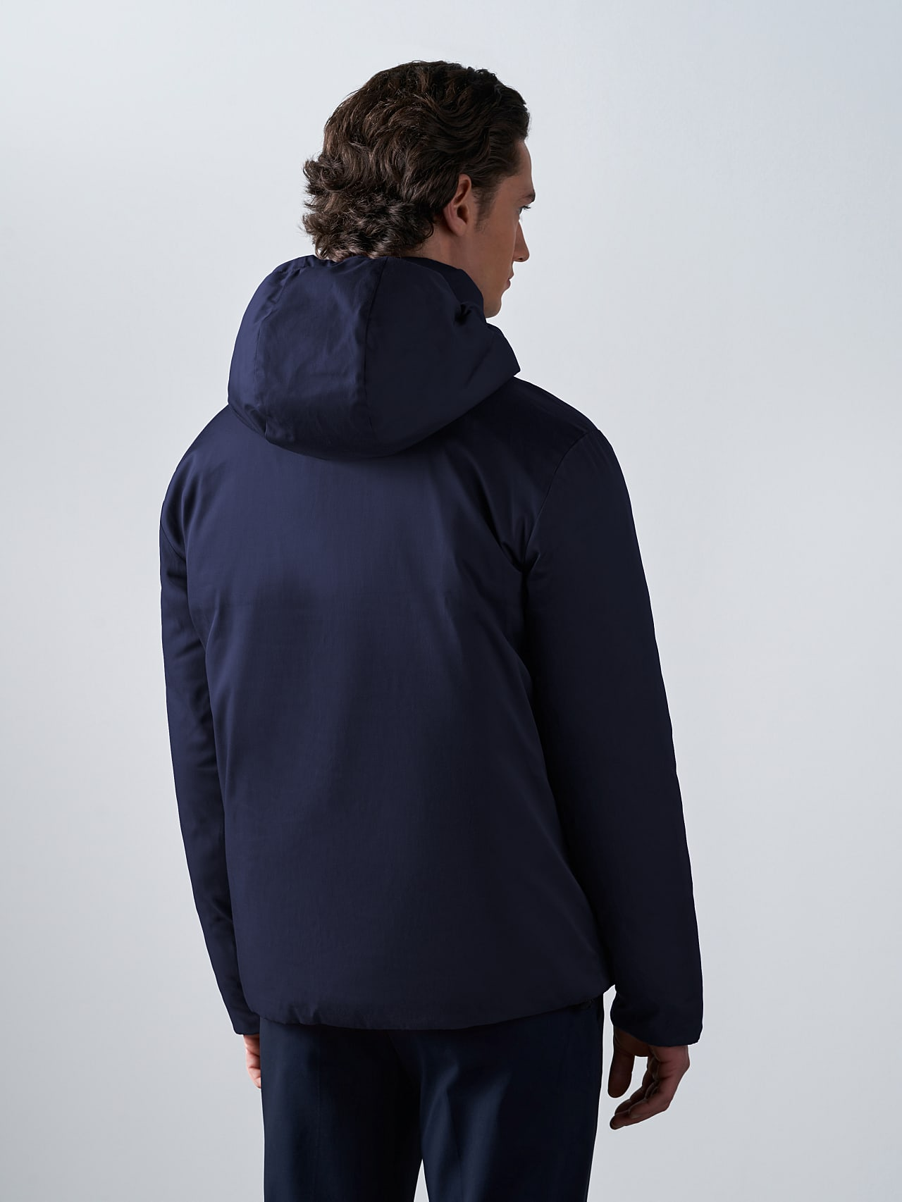OTACE V1.Y5.02 Reversible 2-in-1 Puffer Jacket navy Right Alpha Tauri