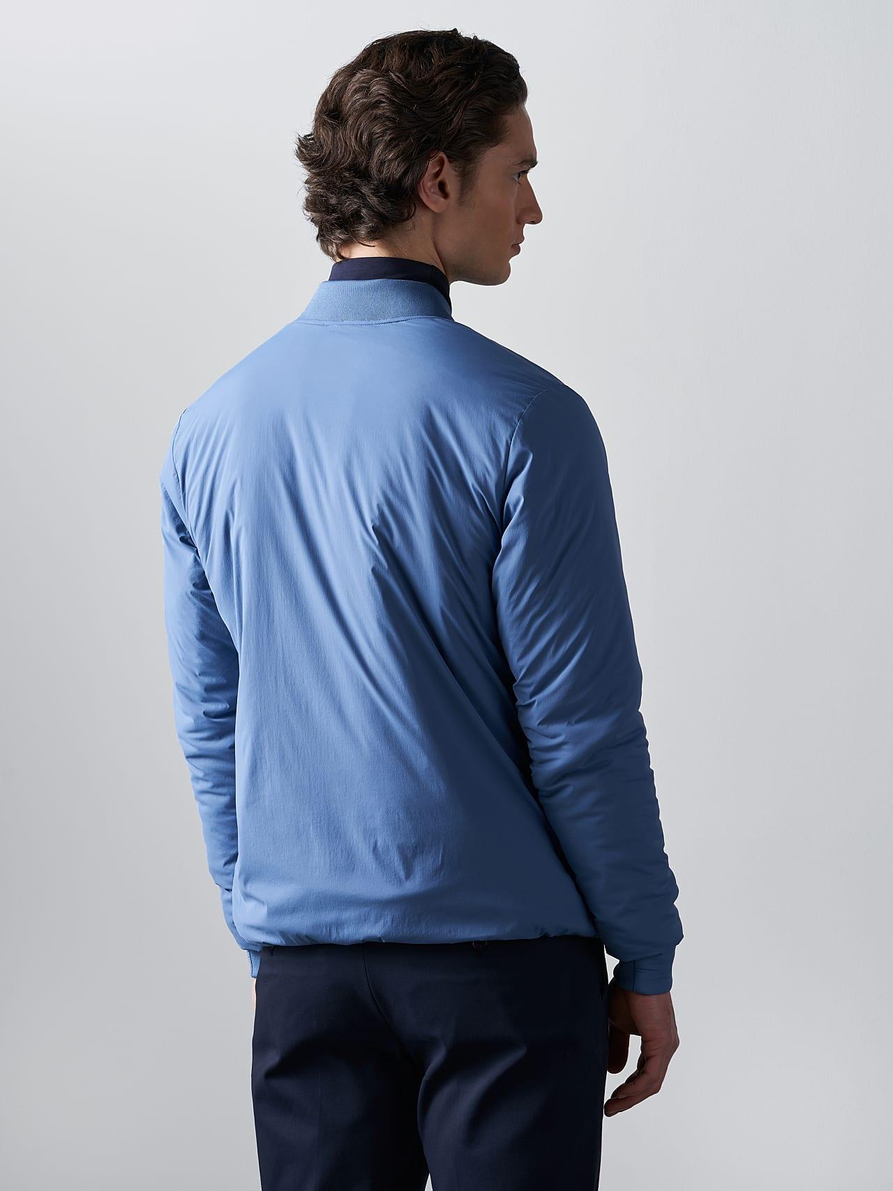 OPRIM V3.Y5.02 Padded PrimaLoft® Jacket light blue Front Main Alpha Tauri