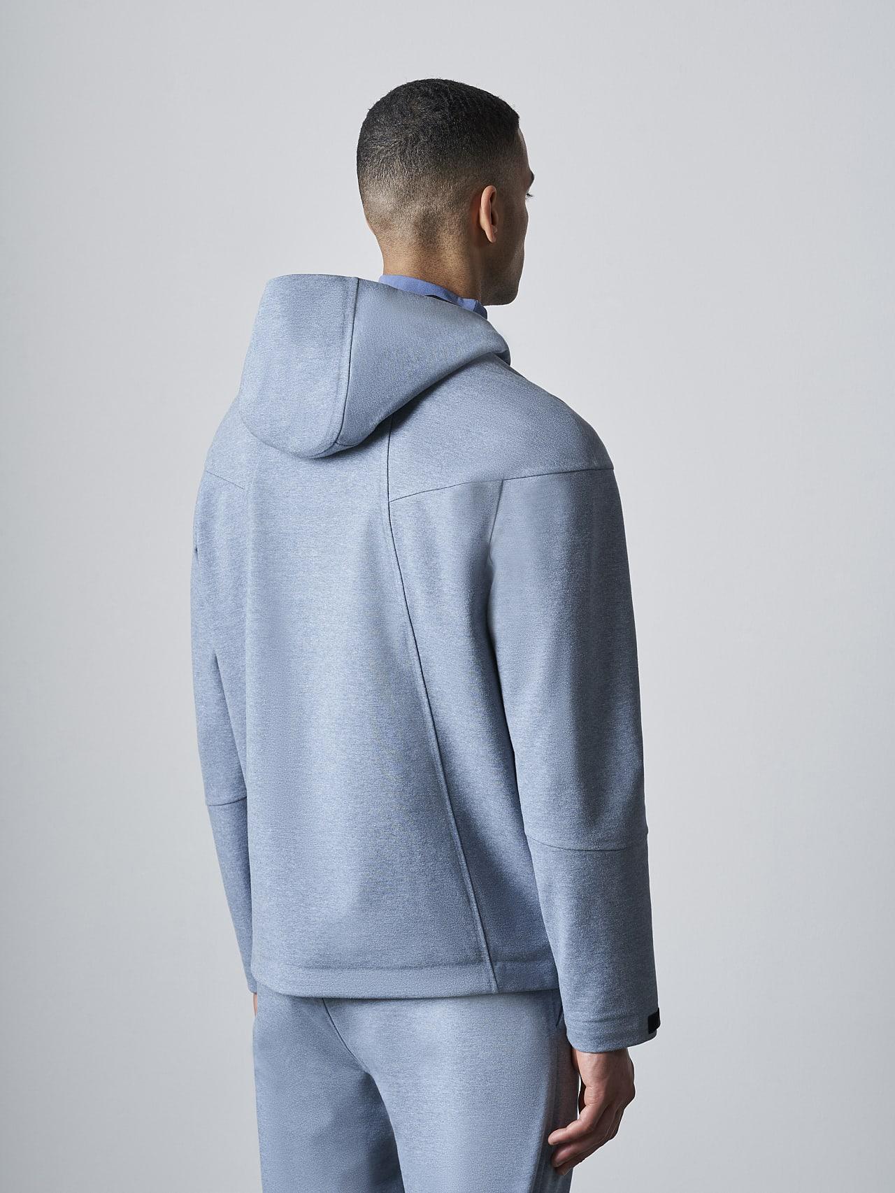 SROTE V1.Y5.02 Waterproof Sweatjacket medium blue Front Main Alpha Tauri