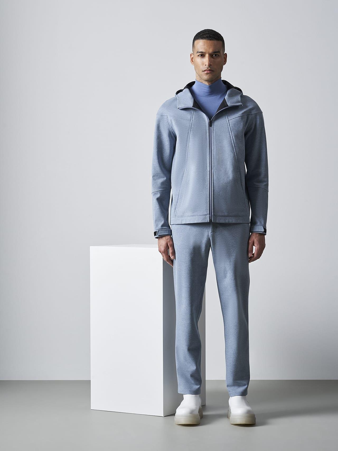 SROTE V1.Y5.02 Waterproof Sweatjacket medium blue Front Alpha Tauri