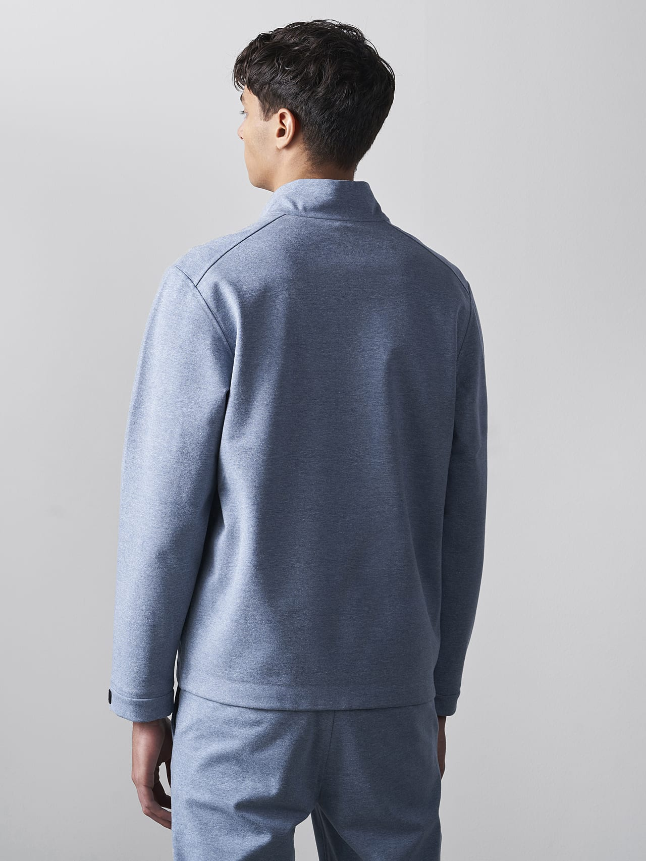 SROTO V1.Y5.02 Waterproof Half-Zip Sweatshirt medium blue Front Main Alpha Tauri