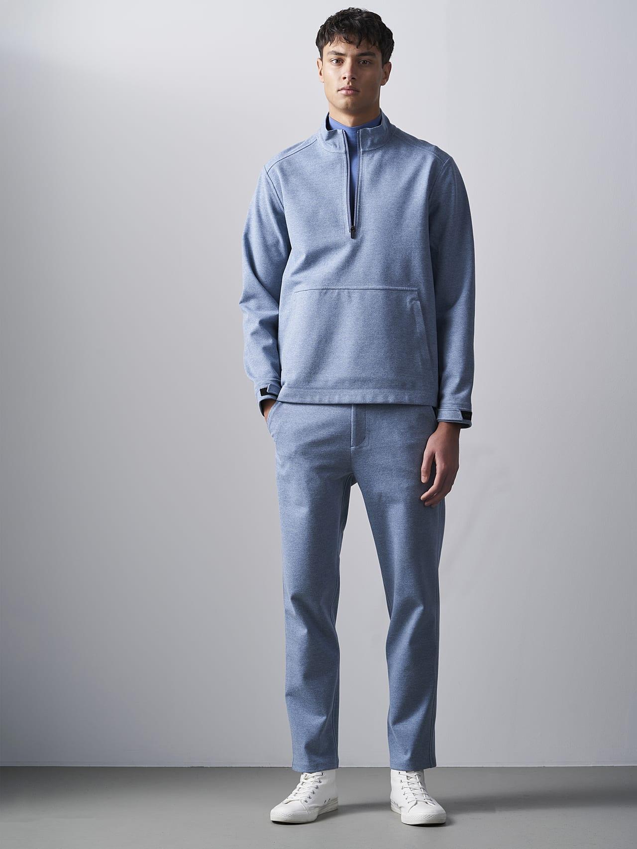 SROTO V1.Y5.02 Waterproof Half-Zip Sweatshirt medium blue Front Alpha Tauri
