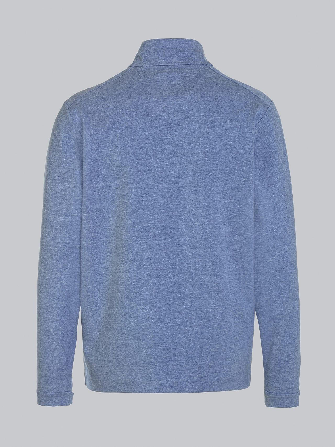 SROTO V1.Y5.02 Waterproof Half-Zip Sweatshirt medium blue Left Alpha Tauri