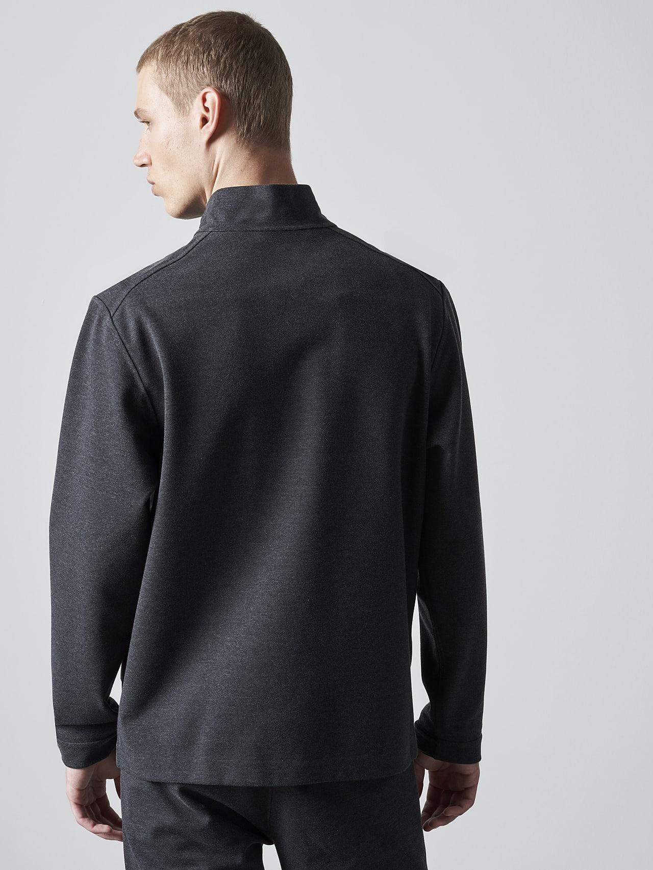 SROTO V1.Y5.02 Waterproof Half-Zip Sweatshirt dark grey / anthracite Front Main Alpha Tauri