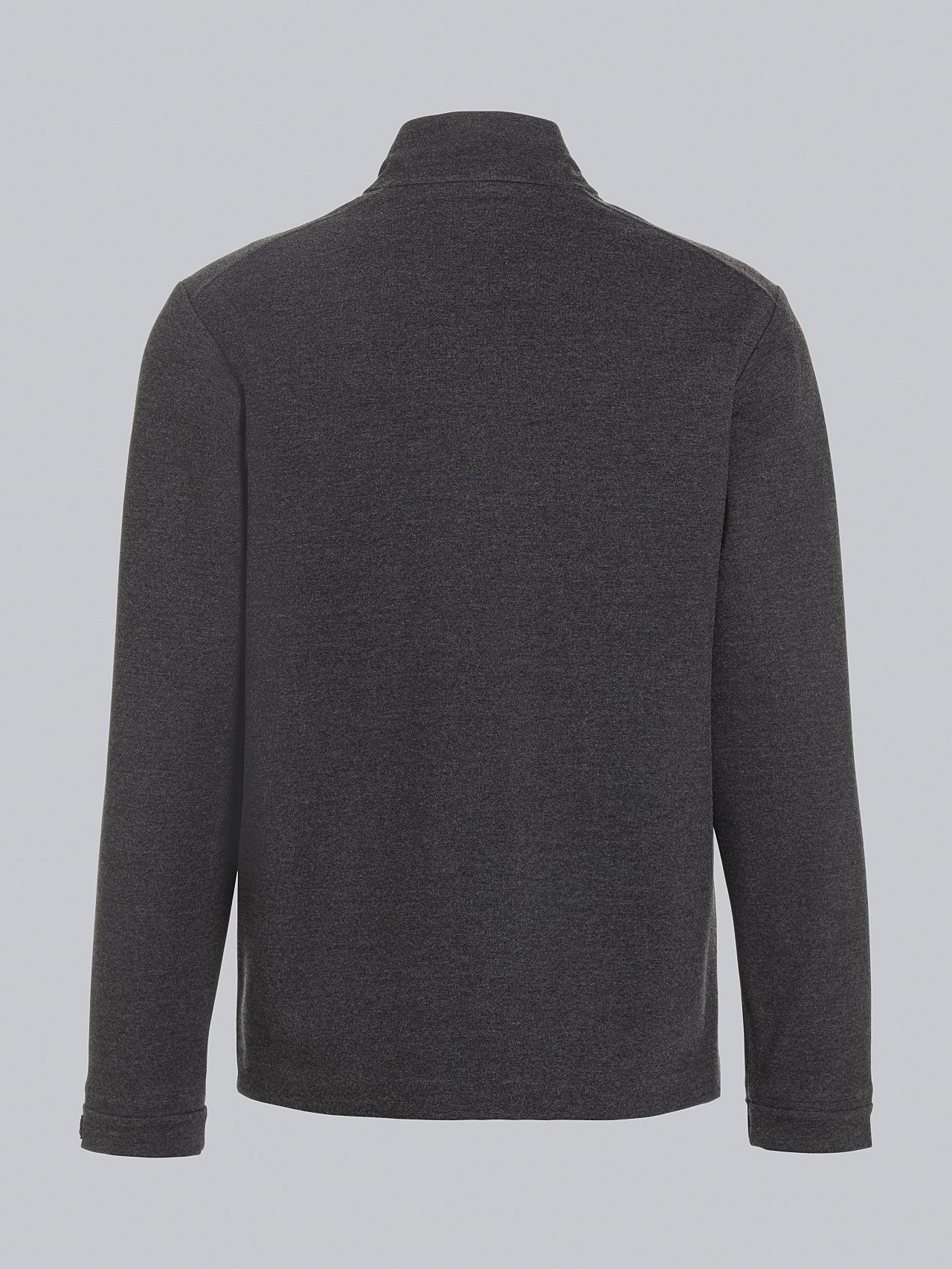 SROTO V1.Y5.02 Waterproof Half-Zip Sweatshirt dark grey / anthracite Left Alpha Tauri