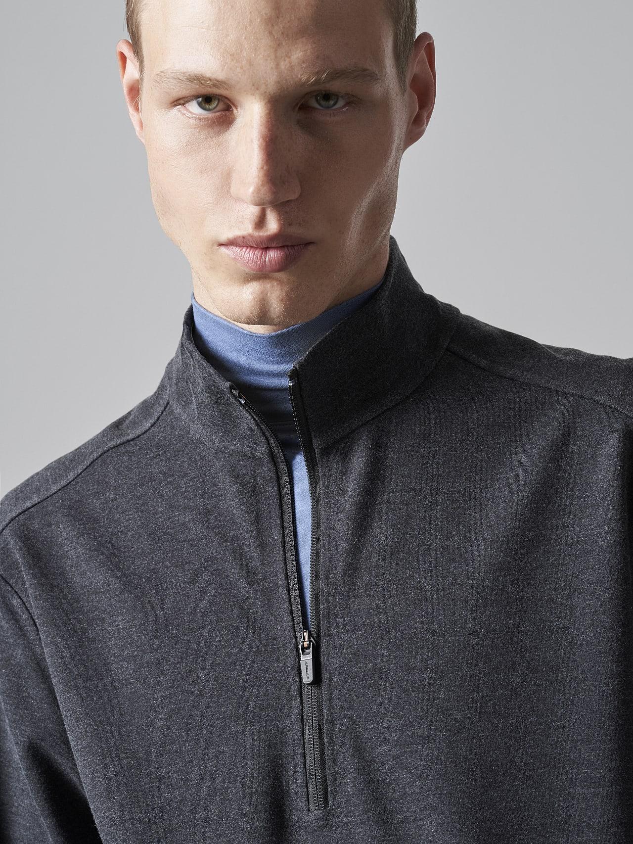 SROTO V1.Y5.02 Waterproof Half-Zip Sweatshirt dark grey / anthracite Right Alpha Tauri