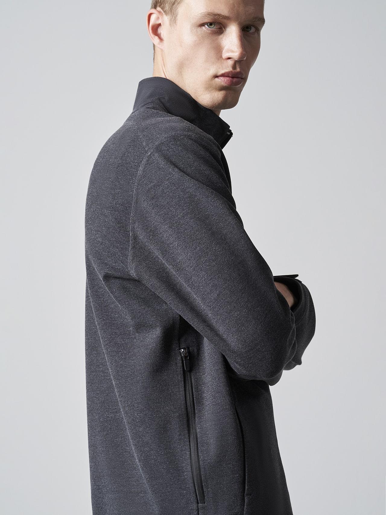 SROTO V1.Y5.02 Waterproof Half-Zip Sweatshirt dark grey / anthracite Extra Alpha Tauri