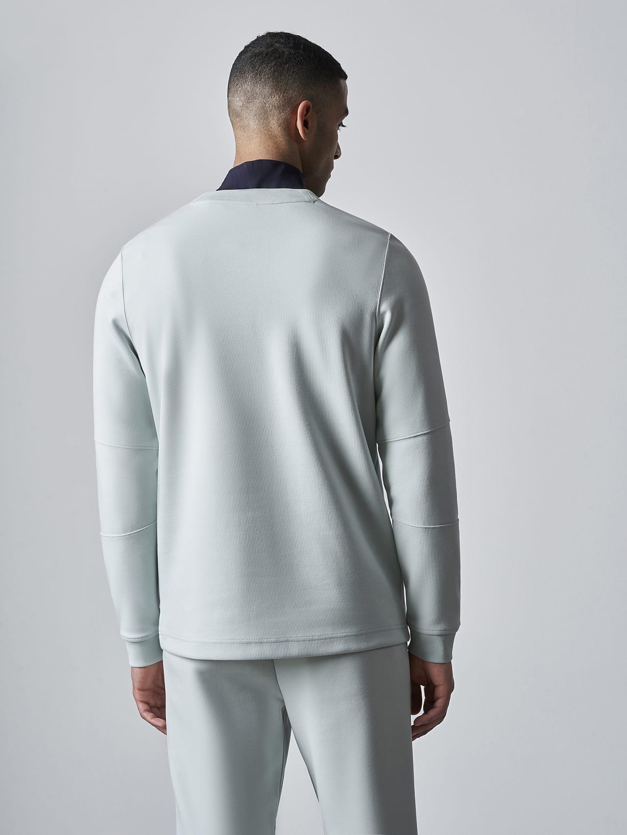 SCONA V1.Y5.02 Premium Sweatshirt Blass Blau Haupt Vorne Alpha Tauri