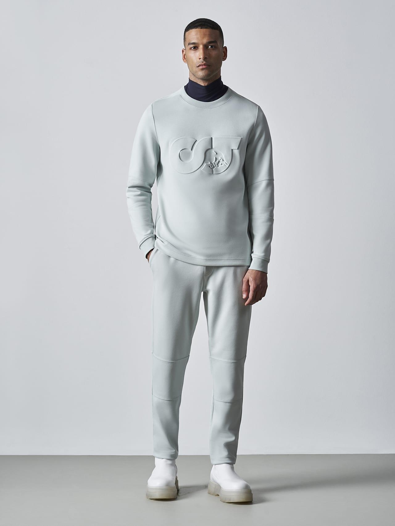 SCONA V1.Y5.02 Premium Sweatshirt Blass Blau Vorne Alpha Tauri