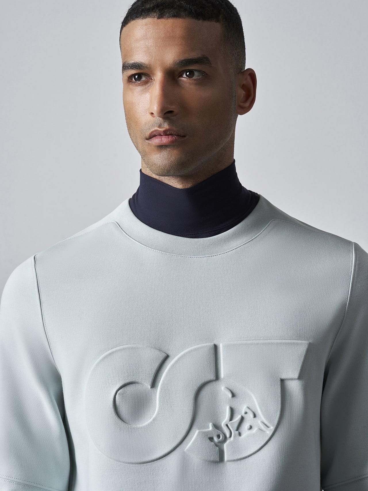 SCONA V1.Y5.02 Premium Sweatshirt Blass Blau Rechts Alpha Tauri