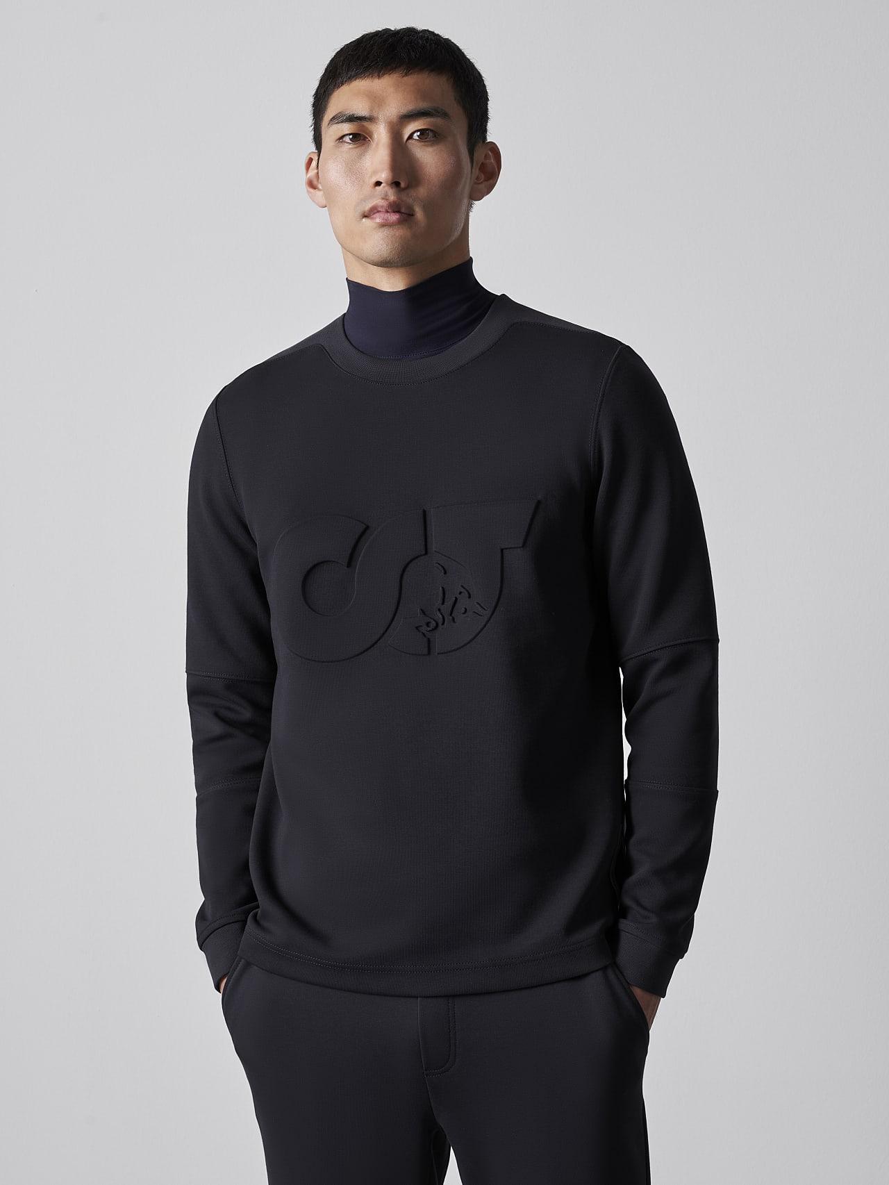 SCONA V1.Y5.02 Premium Sweatshirt black Model shot Alpha Tauri