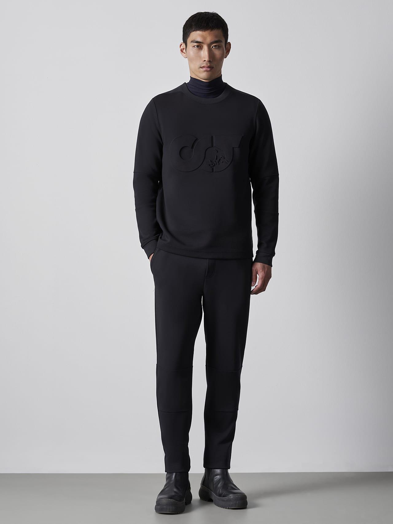 SCONA V1.Y5.02 Premium Sweatshirt black Front Alpha Tauri